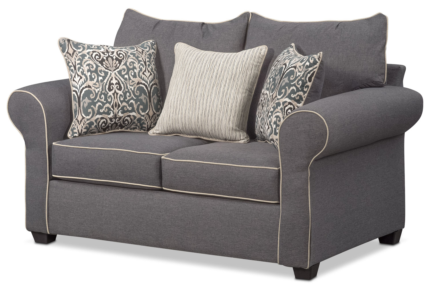 Sofa Loveseat And Chair Set In 2018 Carla Sofa, Loveseat, And Chair Set – Gray (Gallery 8 of 20)