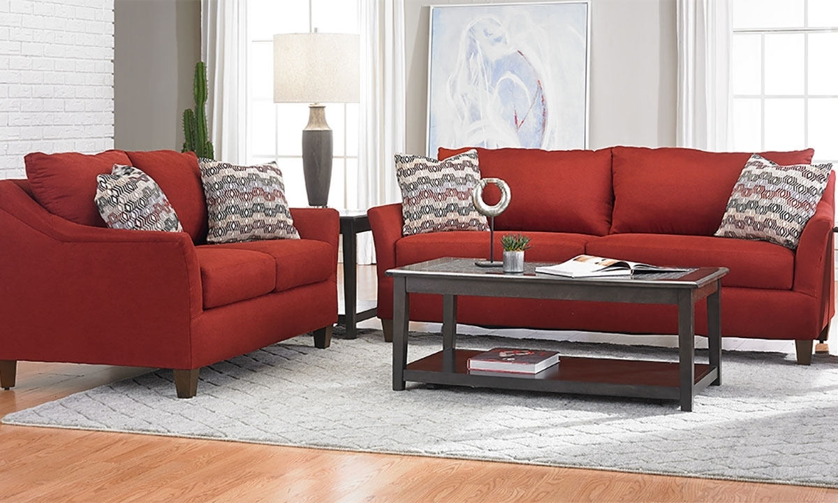 Sofa Loveseat And Chairs In Recent Jericho Cardinal Red 2 Piece Sofa And Loveseat Set (View 11 of 20)