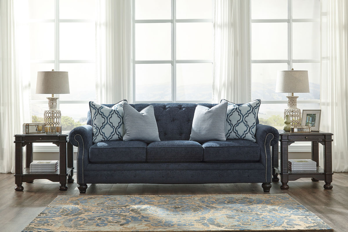 Sofa Loveseat And Chairs In Well Known Lavernia – Navy – Sofa, Loveseat & 2 Accent Chairs – Nc Gallery (View 12 of 20)