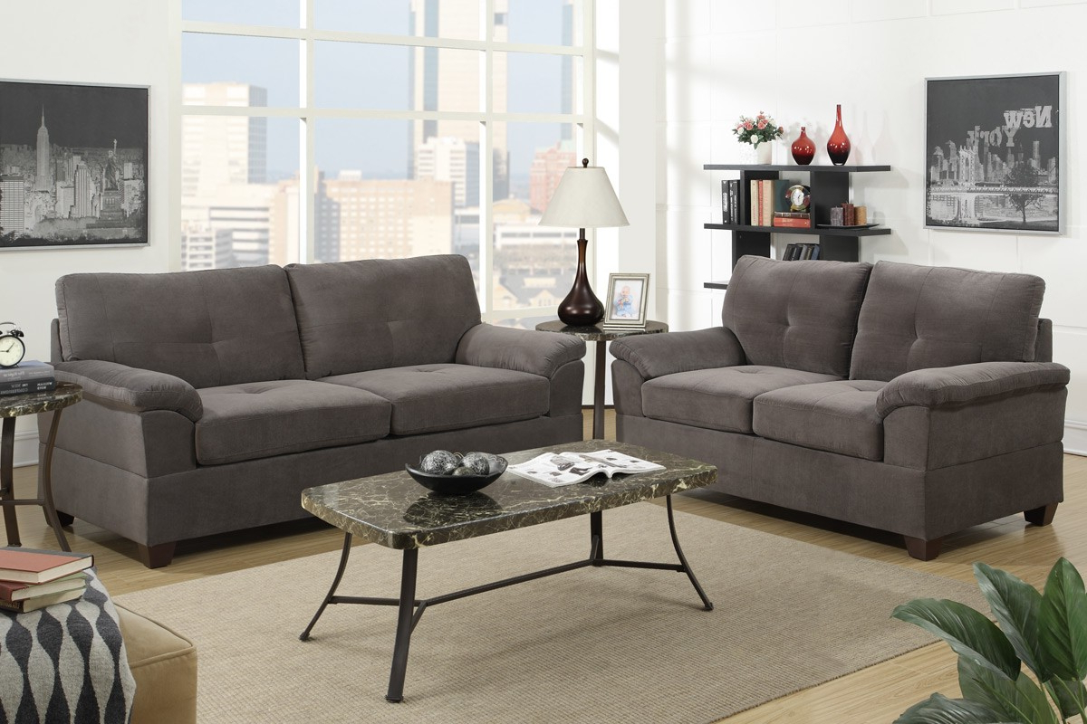 Sofa Loveseat And Chairs Regarding 2019 Conway Sofa & Loveseat (Gray) – Sofa Sets – Living Room (Gallery 11 of 20)