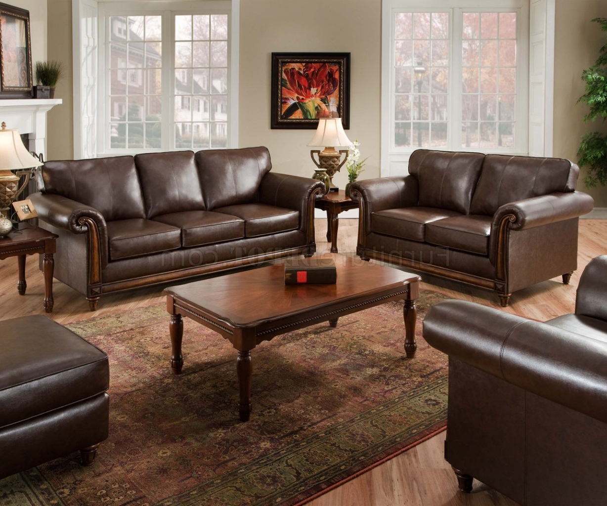 Sofa Loveseat And Chairs With Trendy Coffee Soft Bonded Leather Sofa & Loveseat Set W/options (Gallery 9 of 20)