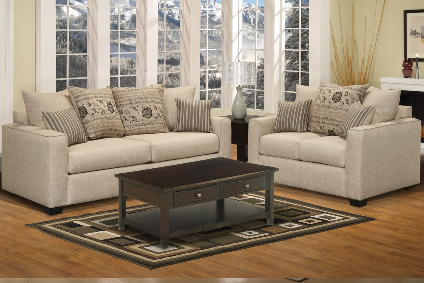 Sofa Loveseat And Chairs Within Fashionable Sofa & Loveseat Set – Steal A Sofa Furniture Outlet Los Angeles Ca (View 7 of 20)