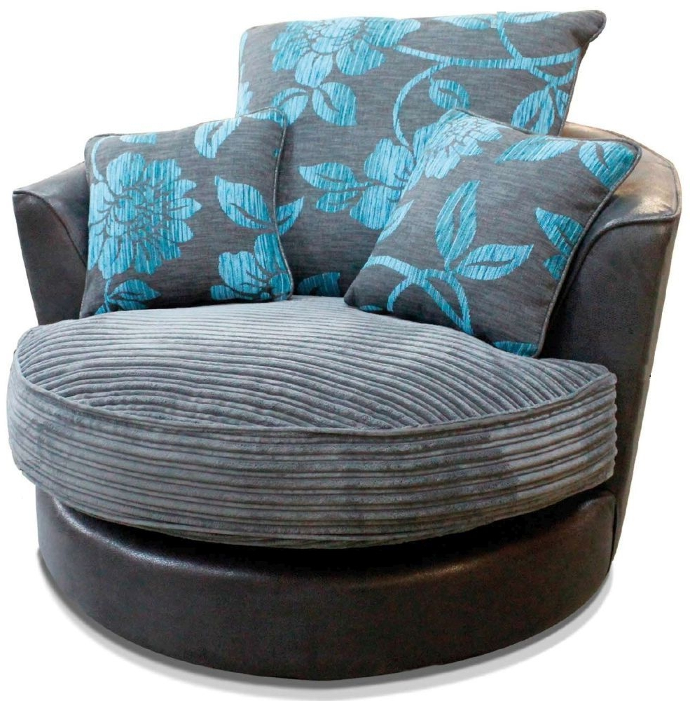 Sofa With Swivel Chair Pertaining To Newest Buy Buoyant Monique Fabric Swivel Chair Online – Cfs Uk (View 20 of 20)