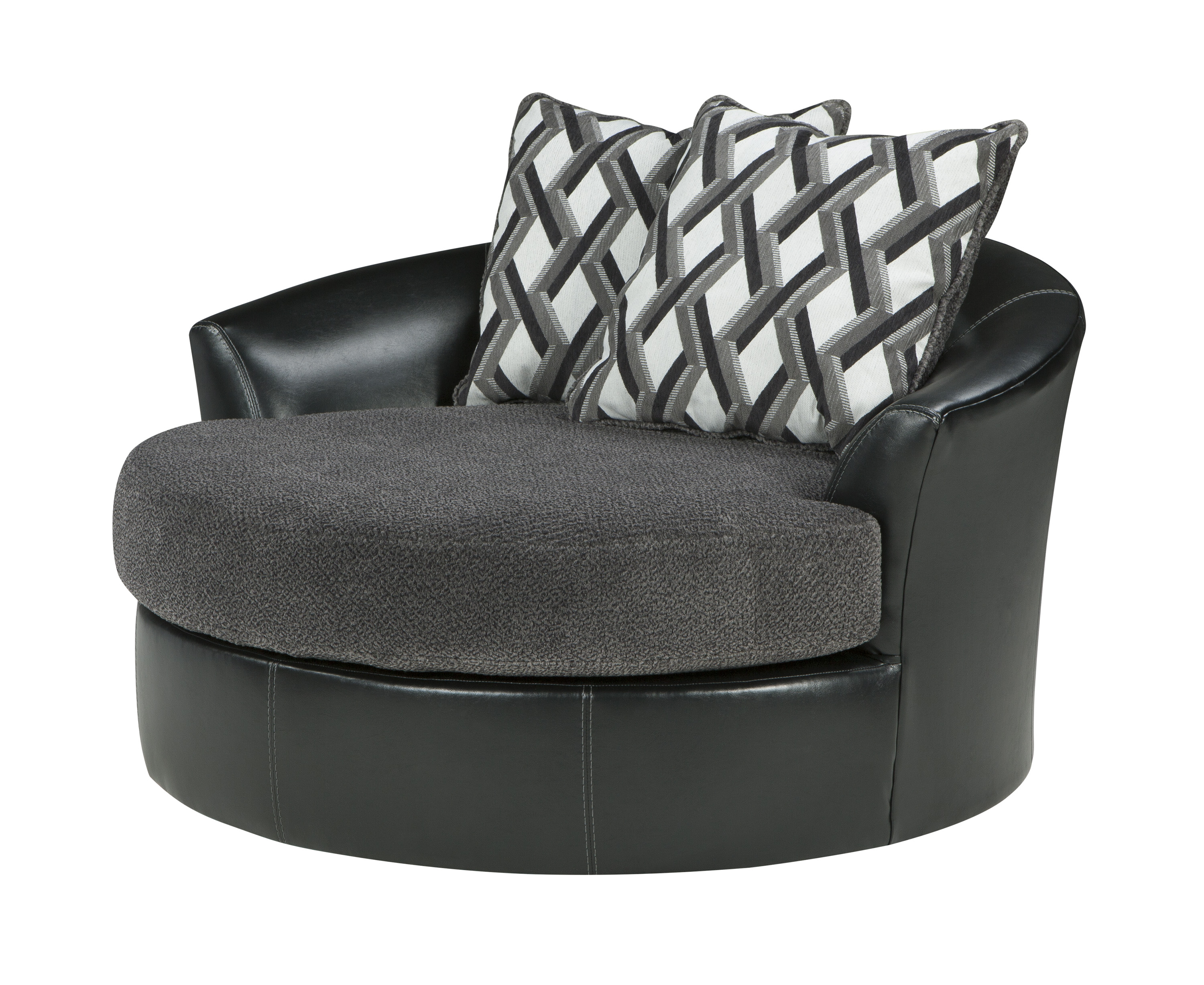 Sofa With Swivel Chair With Recent Kumasi Over Sized Swivel Chair – Sofas Plus (View 13 of 20)