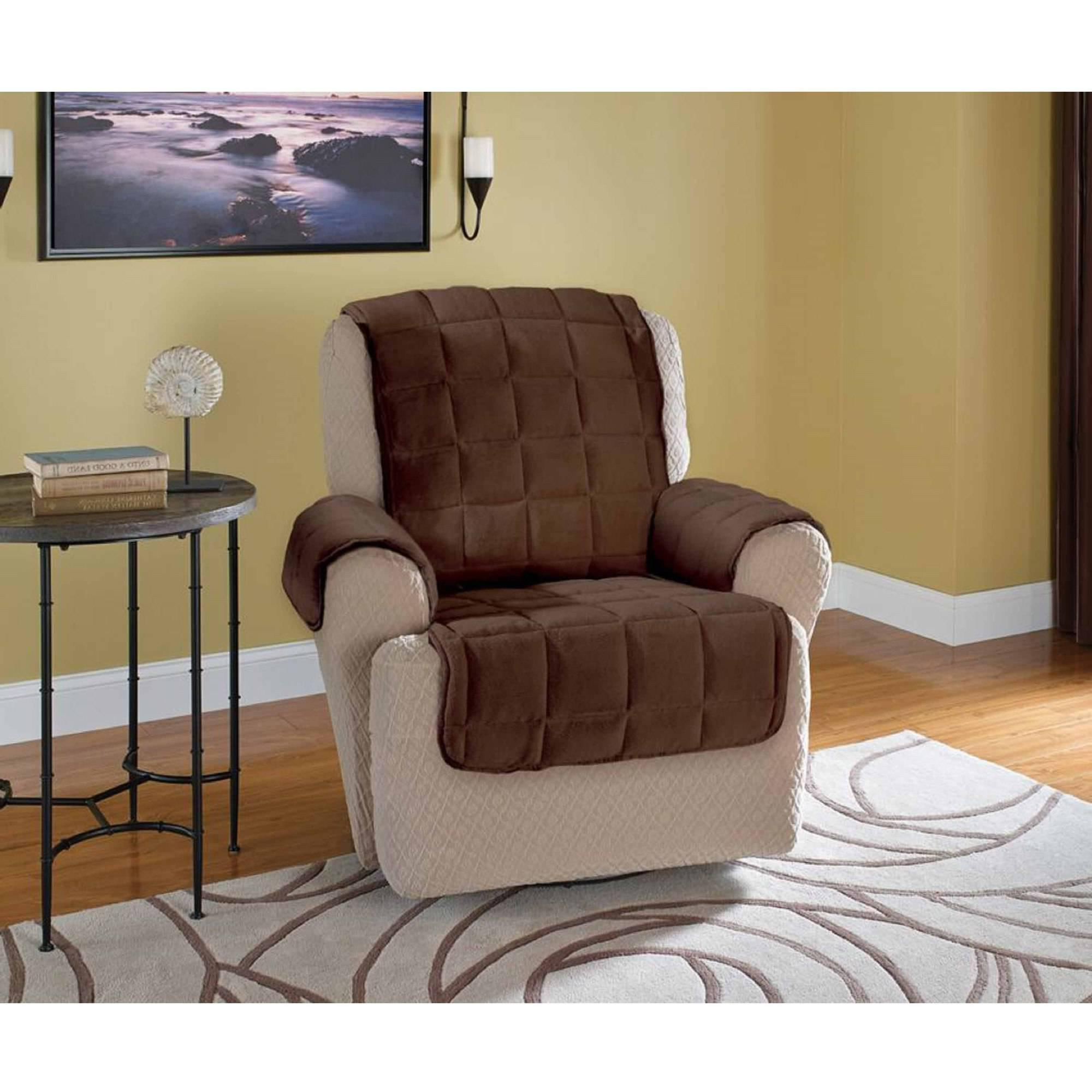 Sofas: Glamour Sofa With Recliner Covers Walmart Design Ideas For Well Known Sofa And Chair Covers (Gallery 16 of 20)