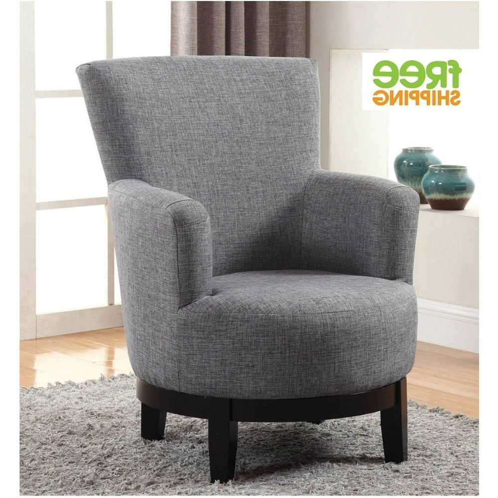Swivel Accent Chair Upholstered Comfortable Elegant Armchair Solid Intended For Latest Aidan Ii Swivel Accent Chairs (Gallery 2 of 20)
