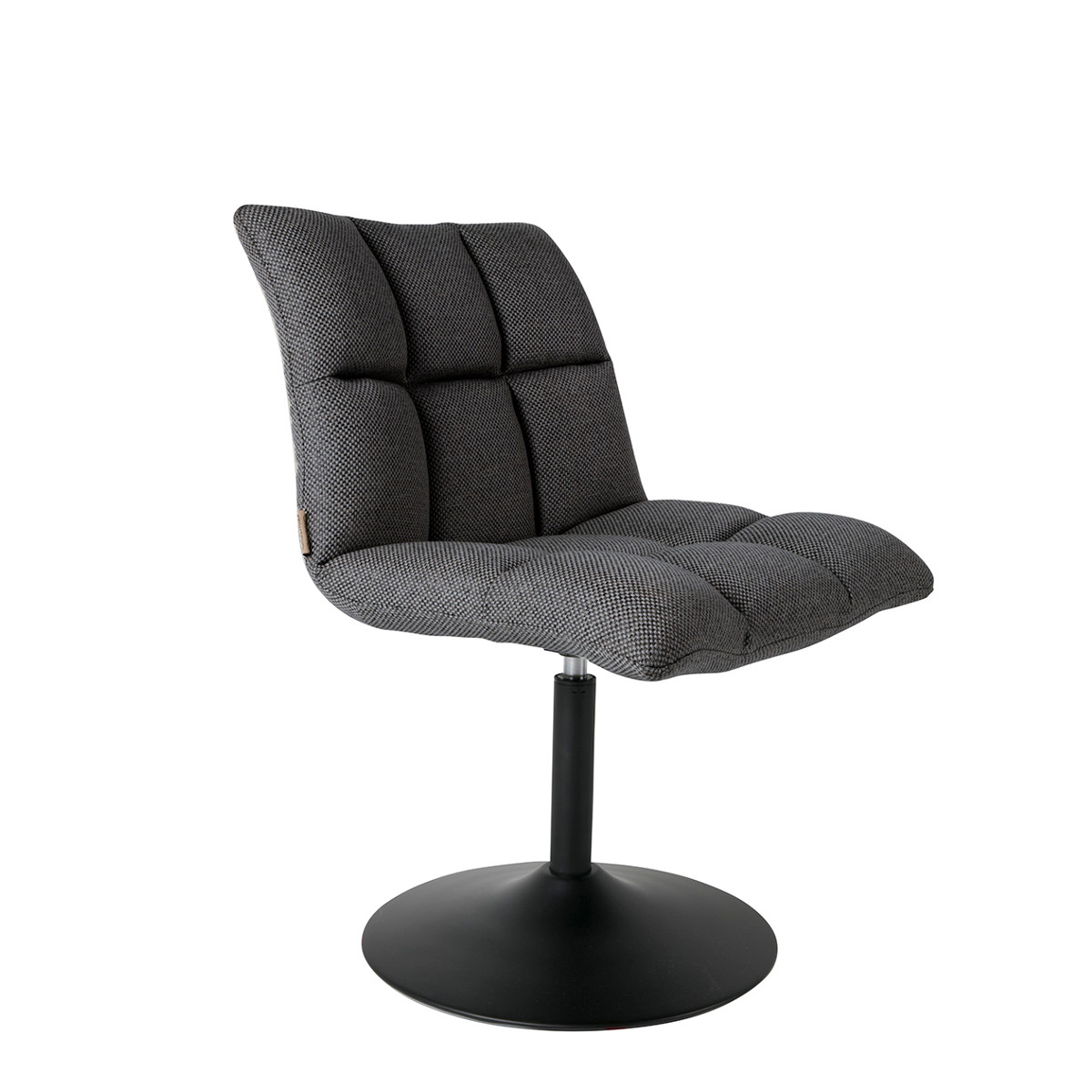Swivel Chair Mini Bar Dark Grey – Dutchbone Nordic Decoration Home For Newest Dark Grey Swivel Chairs (Gallery 9 of 20)