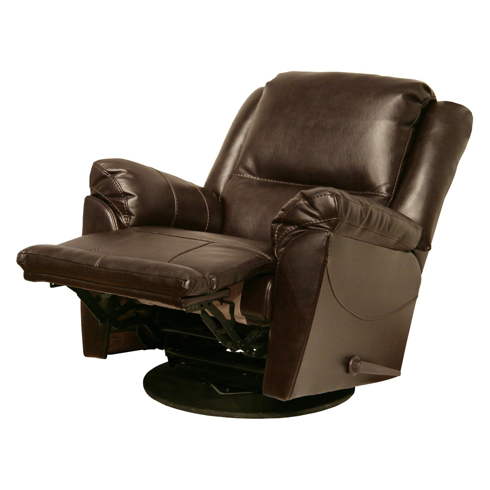 Swivel Tobacco Leather Chairs For Fashionable Catnapper Maverick Chaise Leather Swivel Glider Recliner – Walmart (View 17 of 20)