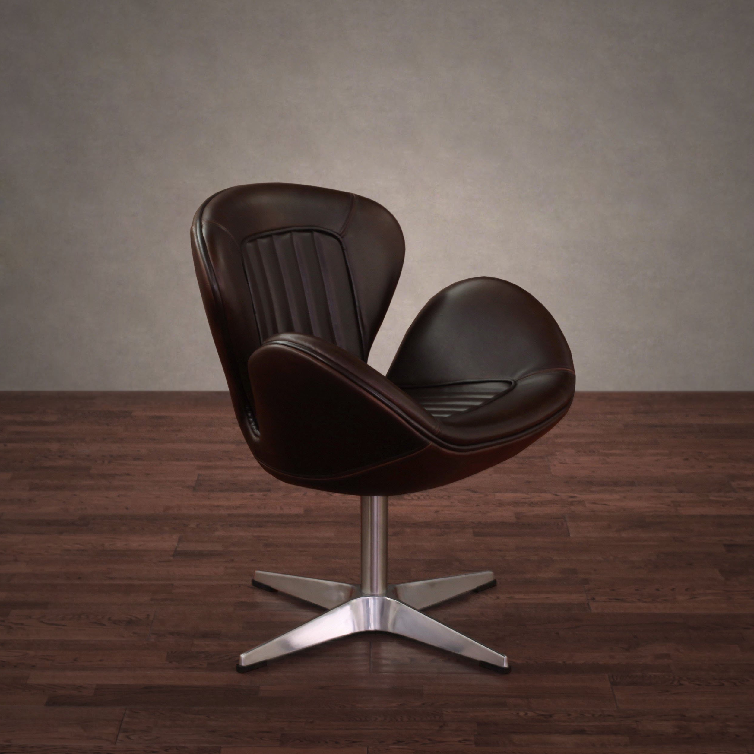 Swivel Tobacco Leather Chairs With Regard To Popular Shop Amelia Vintage Tobacco Leather Swivel Chair – Free Shipping (View 15 of 20)