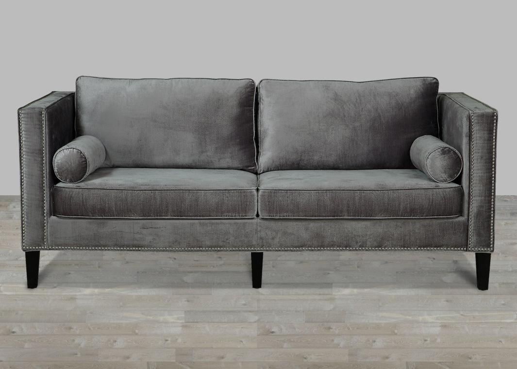 The Terrific Free Velvet Sofa Chair Ideas – Everfaster Inside 2019 Mansfield Graphite Velvet Sofa Chairs (Gallery 13 of 20)
