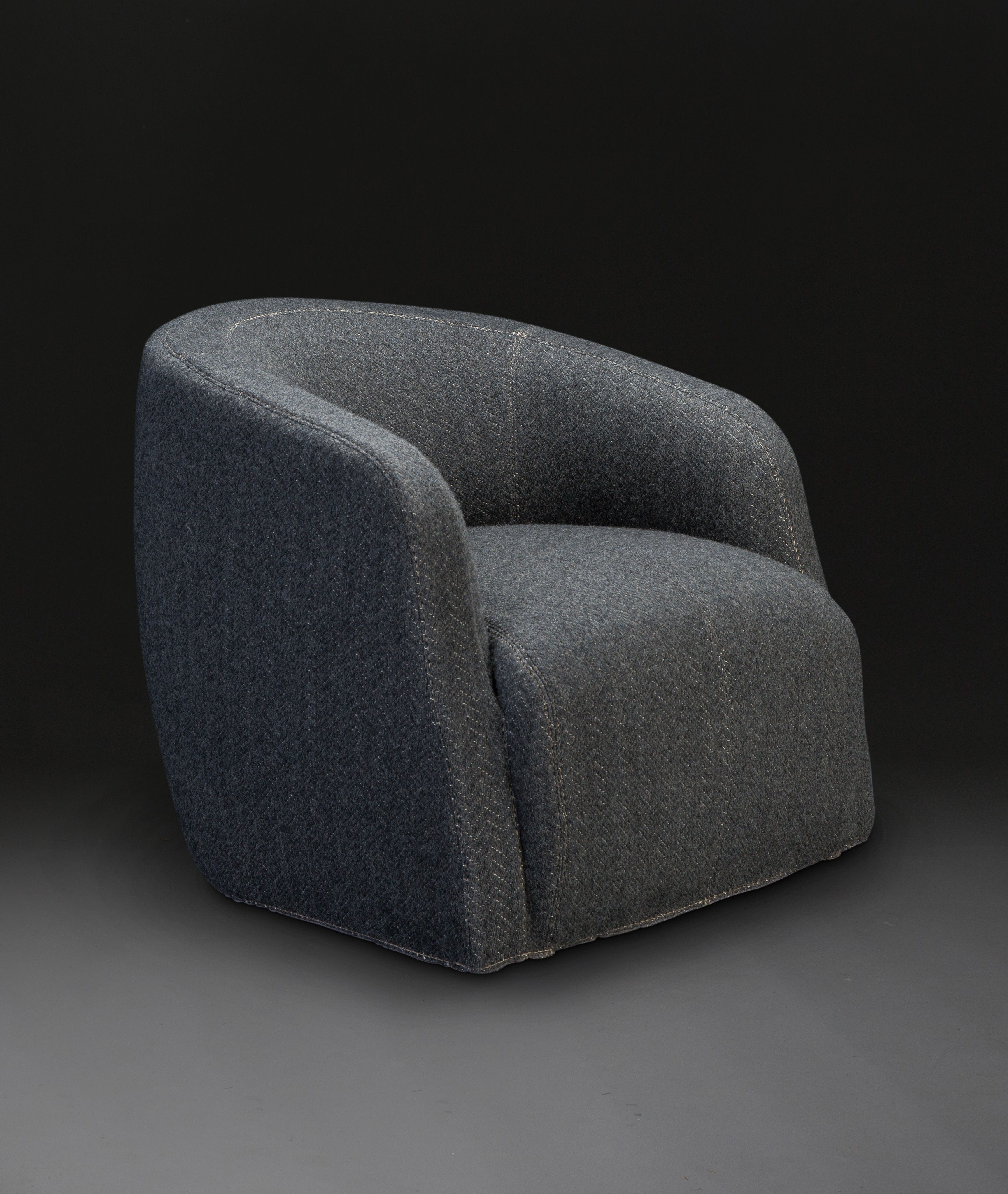 Theo Club Swivel Chair Designedandrew Margolin With Regard To Popular Theo Ii Swivel Chairs (View 5 of 20)