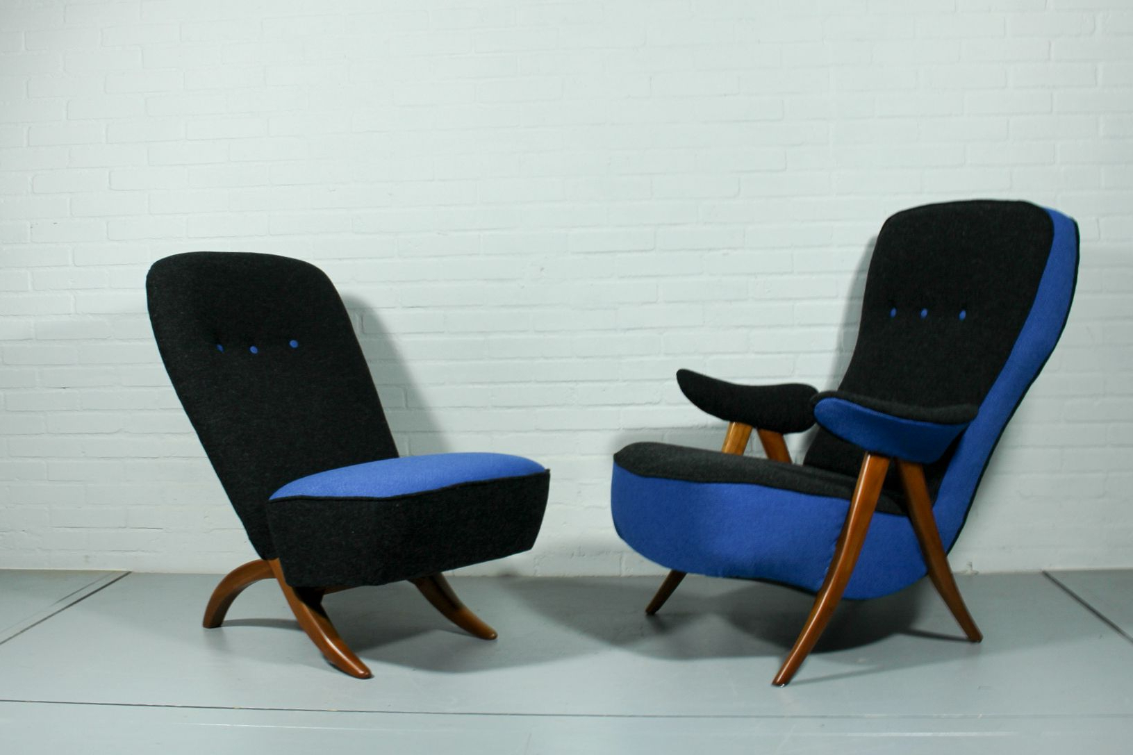 Theo Ii Swivel Chairs Pertaining To Newest Mid Century Model 107 & Congo Lounge Chairstheo Ruth For (View 20 of 20)