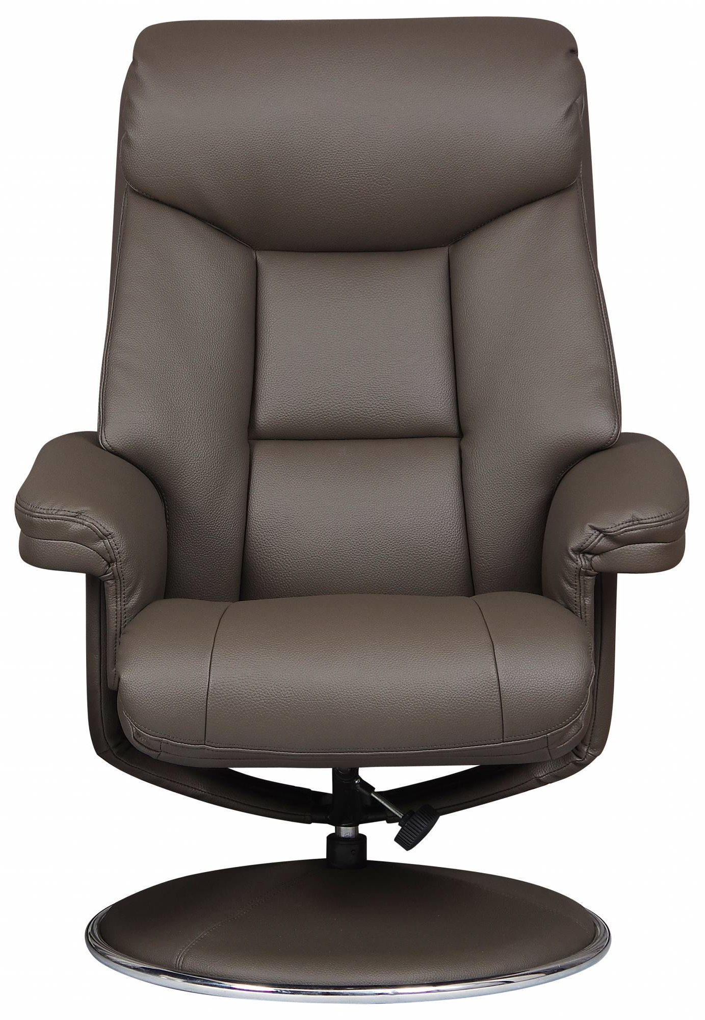 Toulouse – Swivel Recliner Chair & Footstool Charcoal Faux Leather Pertaining To Well Known Charcoal Swivel Chairs (View 18 of 20)