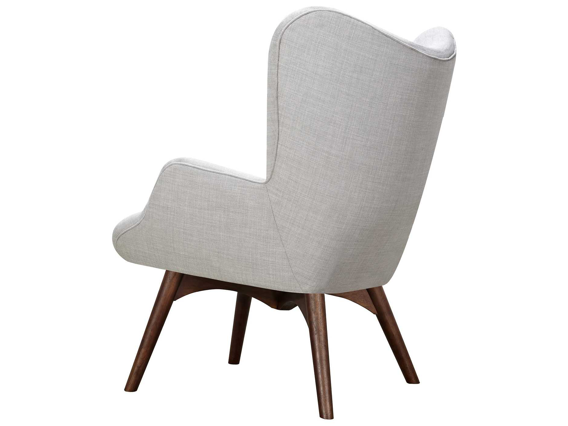 Trendy Aidan Ii Swivel Accent Chairs Within Nyekoncept Aiden Glacier White Accent Chair & Ottoman With Walnut (Gallery 8 of 20)