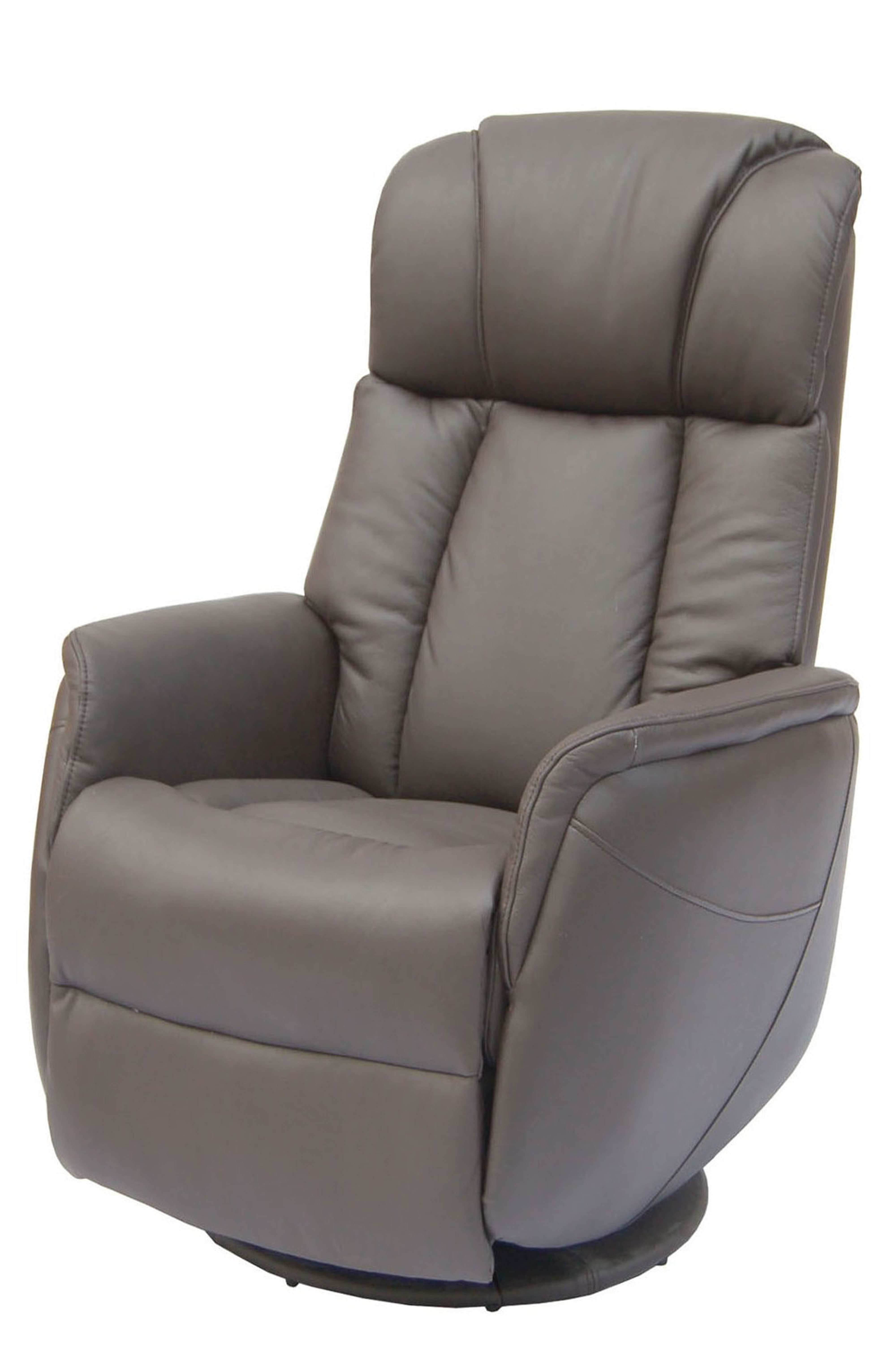 Trendy Espresso Leather Swivel Chairs In Gfa Sorrento Electric Rock & Swivel Leather Recliner Chair – Espresso (View 2 of 20)