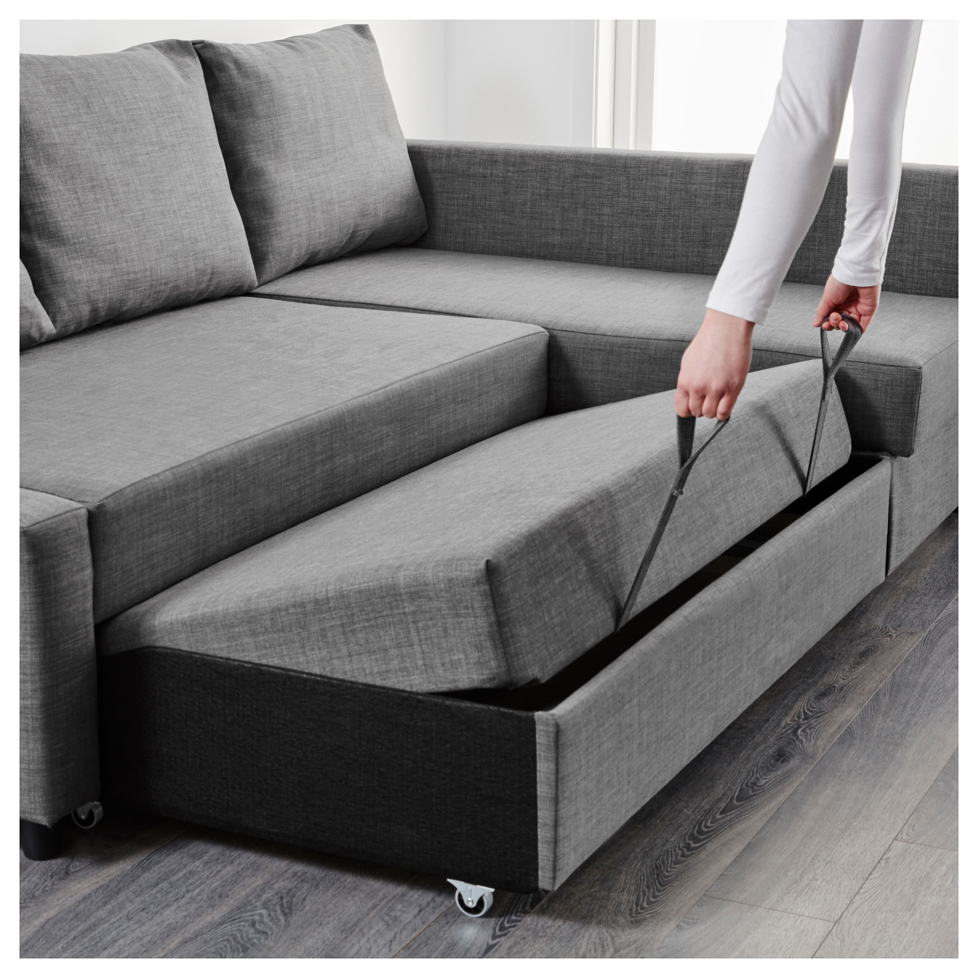 Trendy Friheten Corner Sofa Bed With Storage Skiftebo Dark Grey – Ikea Intended For Ikea Sofa Chairs (View 15 of 20)