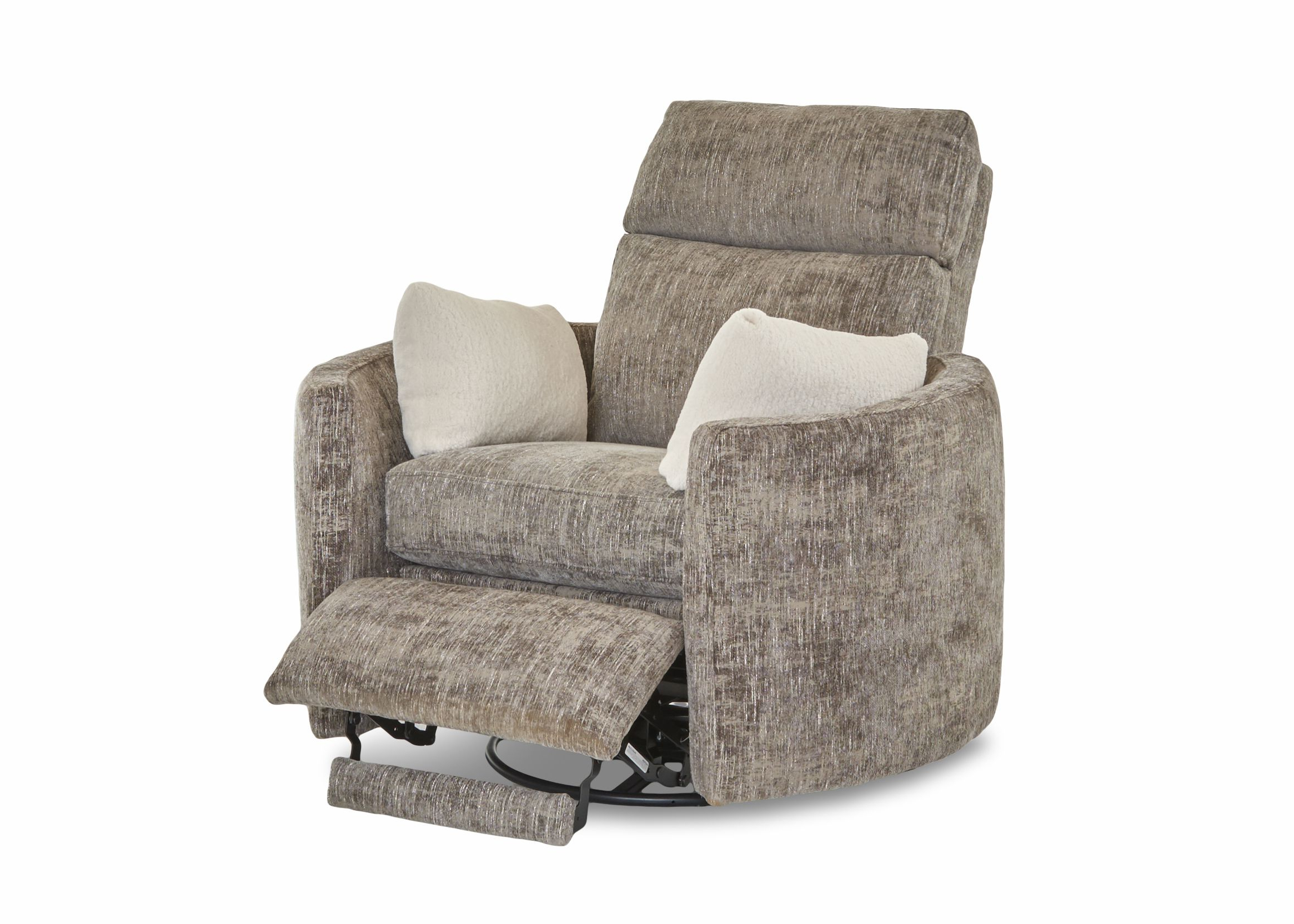 Trendy Harbor Grey Swivel Accent Chairs Inside Swivel/recline Chair Available With Or Without Power (View 18 of 20)