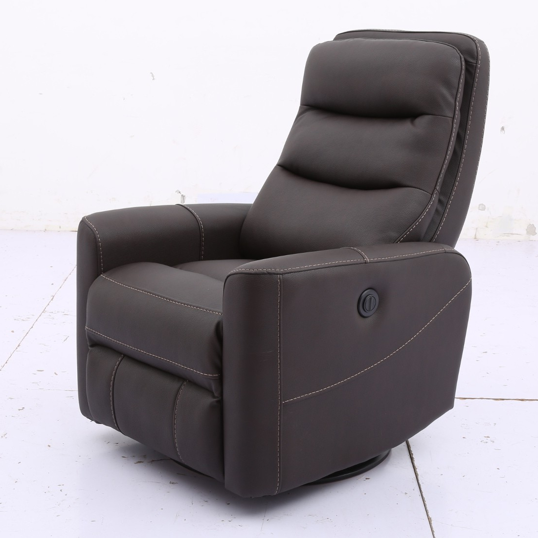 Trendy Hercules Grey Swivel Glider Recliners For Parker Living Hercules Anywhere Power Swivel Recliner In Chocolate (View 13 of 20)