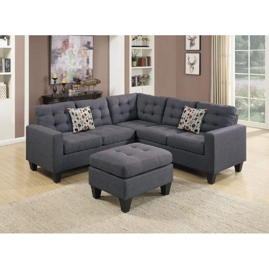Trendy Lucy Dark Grey Sofa Chairs For Living Room: Lucy Symmetrical Sectional Couch For Cool Living Room (View 18 of 20)