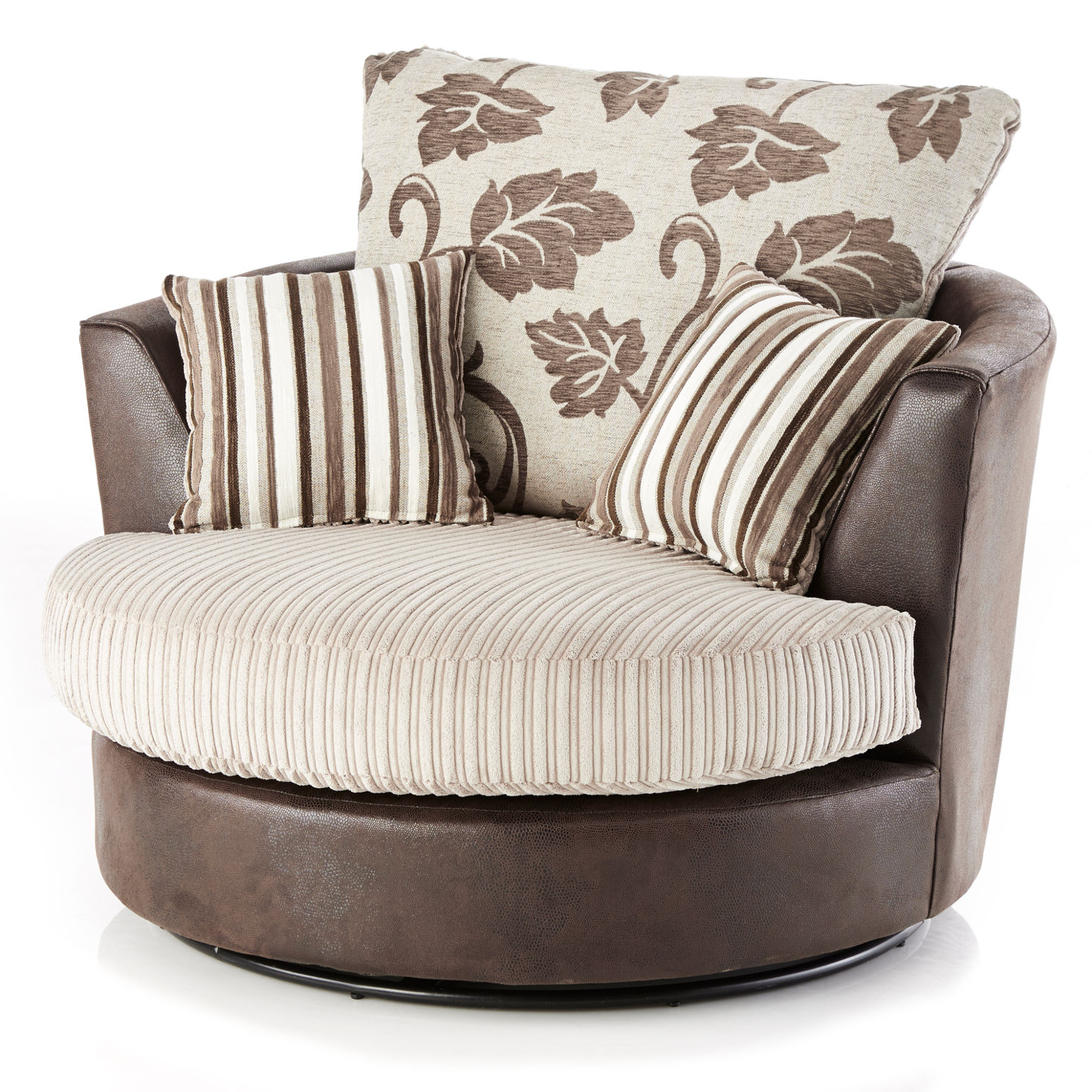 Trendy Lush Jumbo Cord Swivel Chair (Gallery 5 of 20)