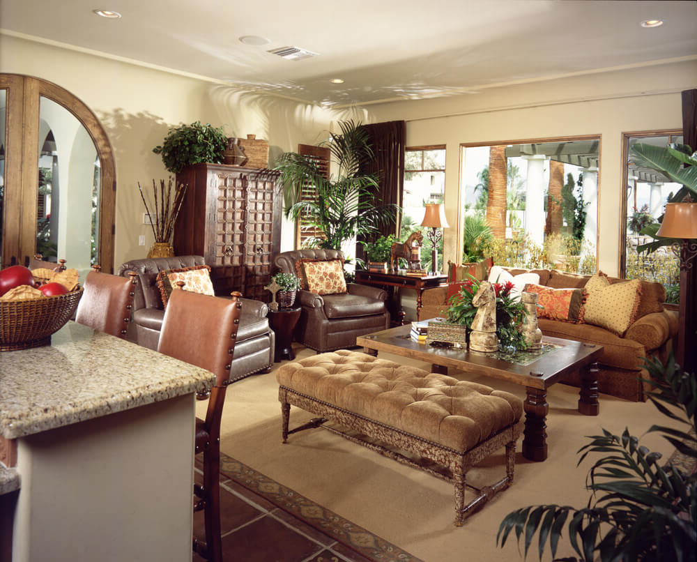 Trendy Sofa Chair With Ottoman Regarding 50 Beautiful Living Rooms With Ottoman Coffee Tables (View 17 of 20)