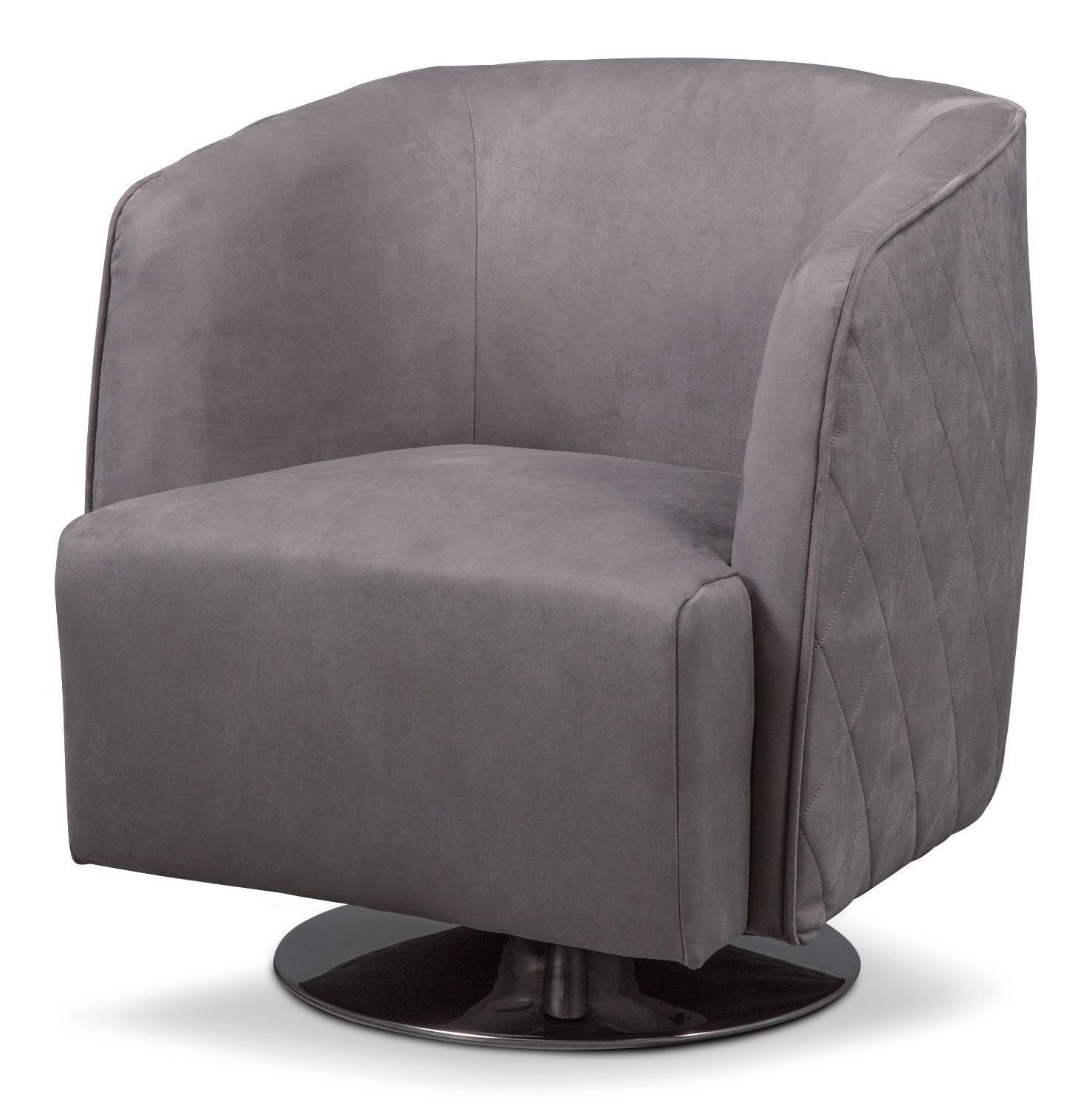 Twirl Swivel Accent Chairs For Well Known Santana Swivel Chair  Slate (View 19 of 20)