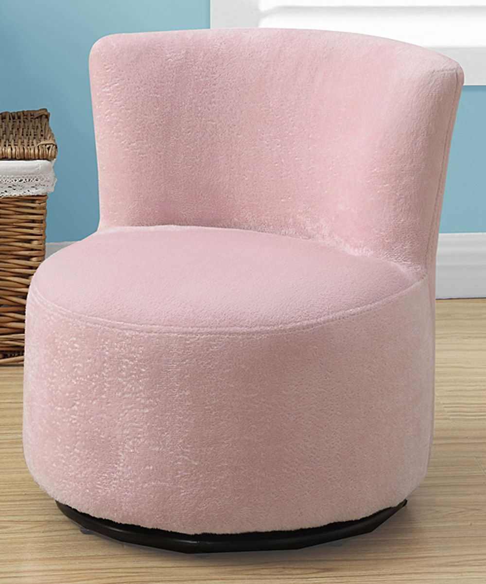 Twirl Swivel Accent Chairs Within Recent Look At This Fuzzy Pink Juvenile Swivel Chair On #zulily Today (View 10 of 20)