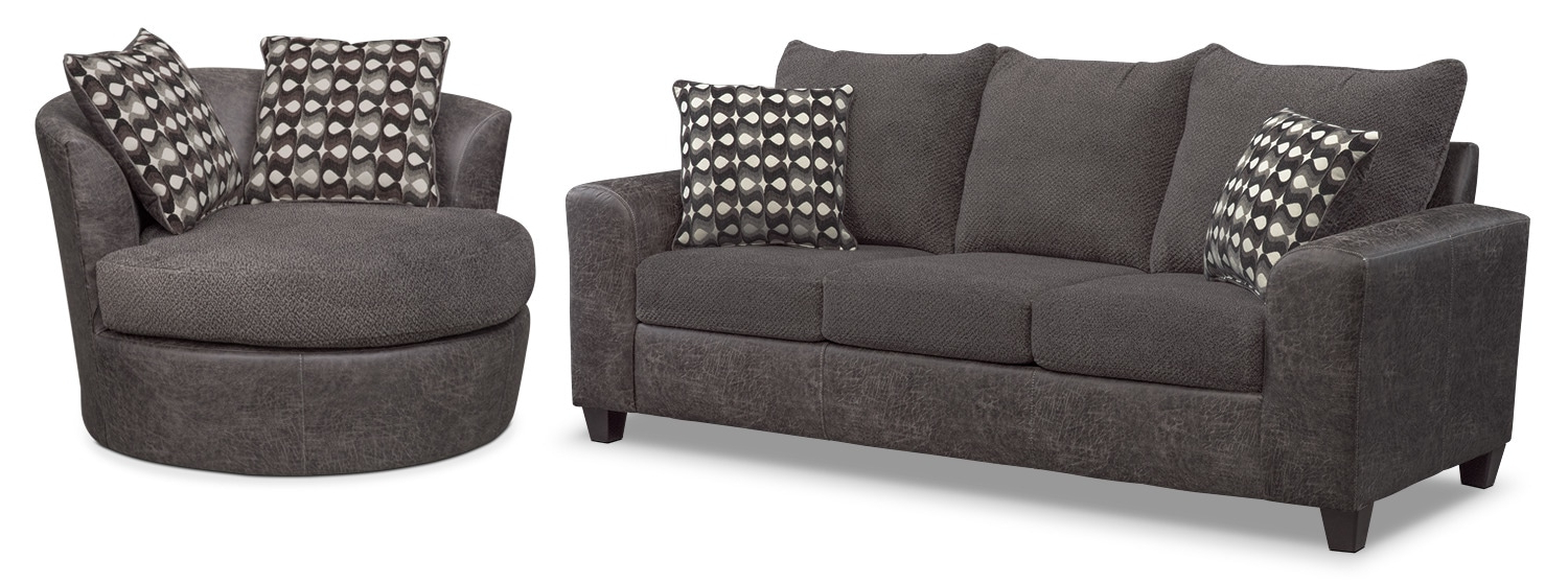 Value City Furniture And Mattresses Intended For Well Known Sofa With Swivel Chair (View 19 of 20)