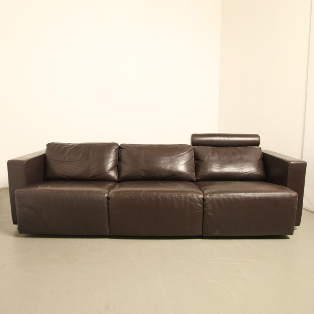 Vintage Modular Brown Leather Sofawalter Knoll For Sale At Pamono Regarding Famous Walter Leather Sofa Chairs (Gallery 4 of 20)