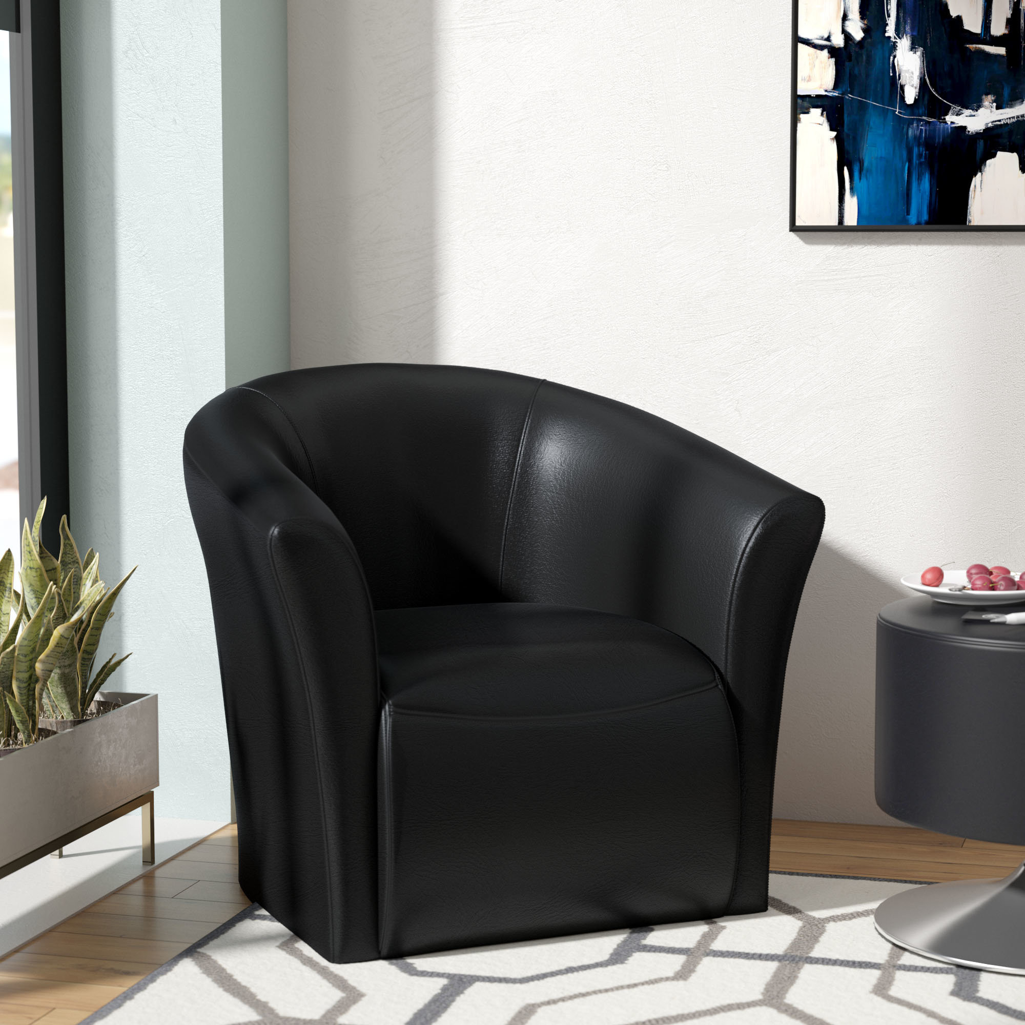Wade Logan Elisha Swivel Barrel Chair & Reviews (View 15 of 20)