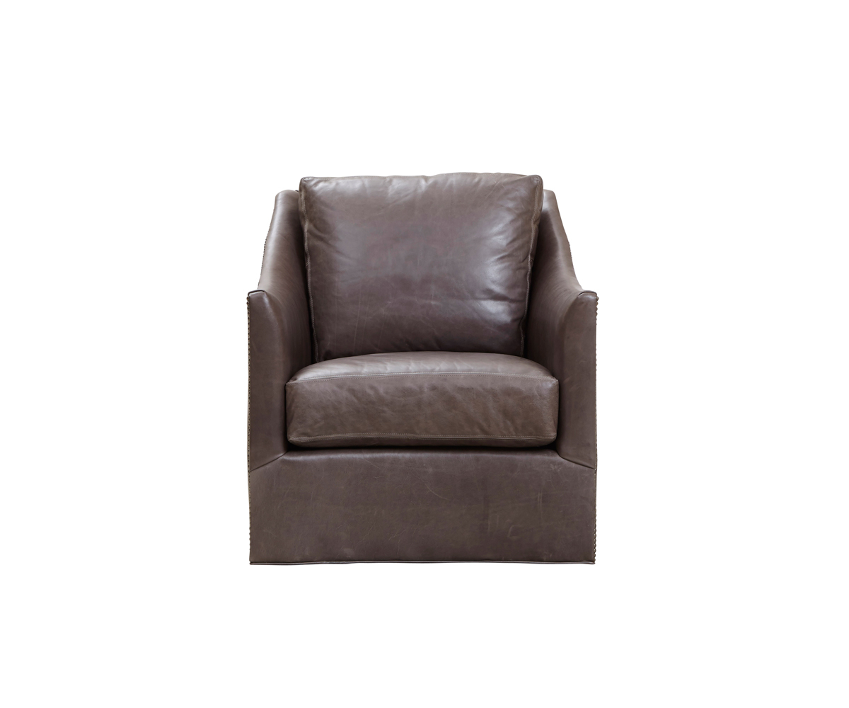 Walter Leather Sofa Chairs Within Most Popular Walter Swivel Chair – Southern Furniture Company (View 17 of 20)