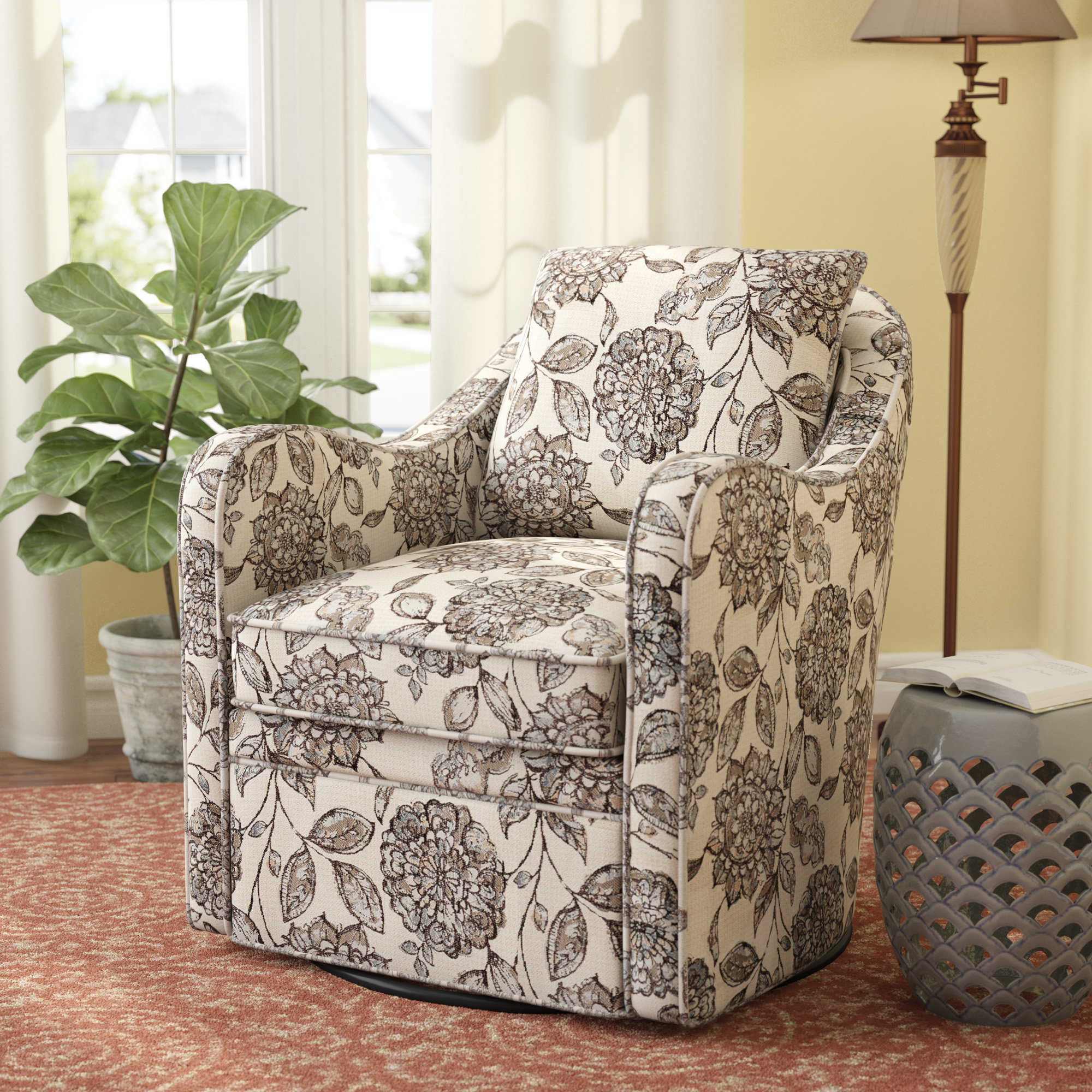 Wayfair Pertaining To Revolve Swivel Accent Chairs (Gallery 4 of 18)