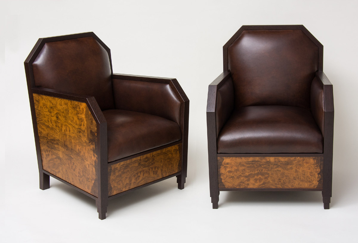 Well Known Art Deco Club Chairs And Ottoman (View 13 of 20)