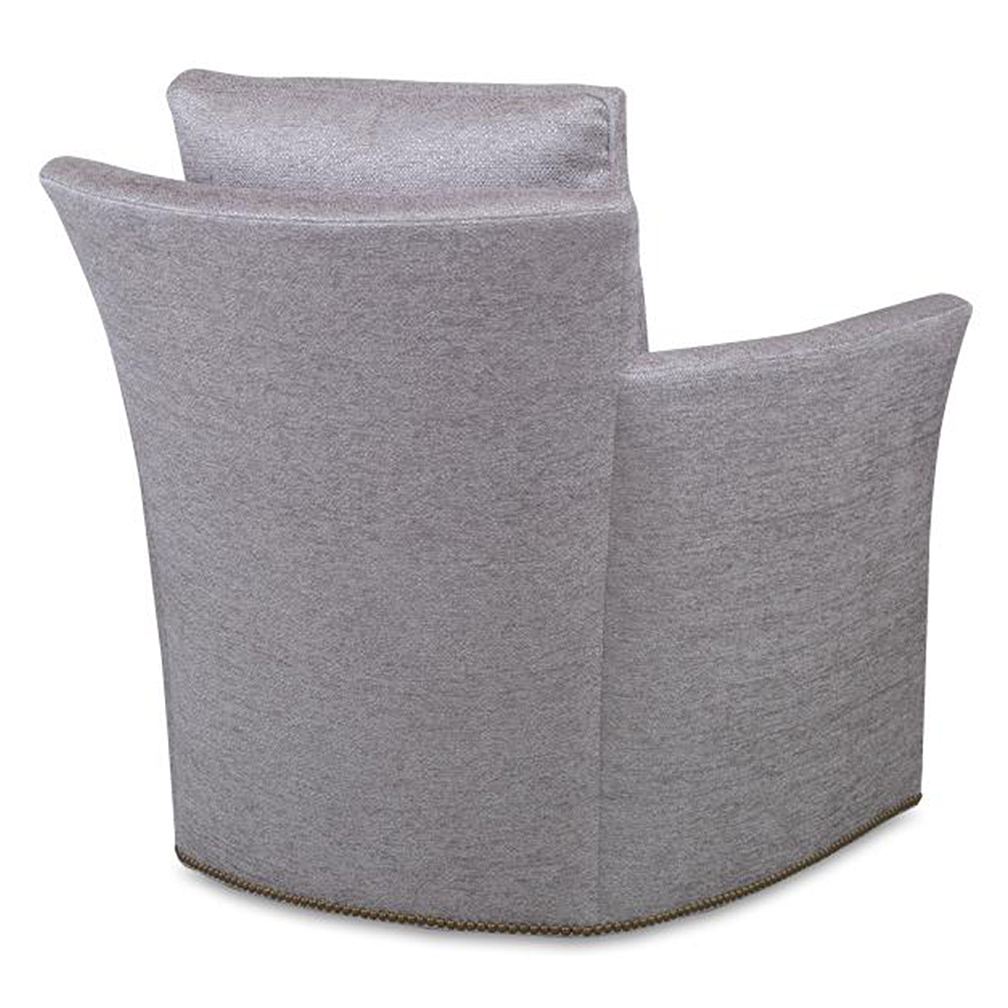 Well Known Bailey Roll Arm Skirted Swivel Gliders Regarding Bailey Swivel Chair – Luxe Home Company (View 8 of 20)