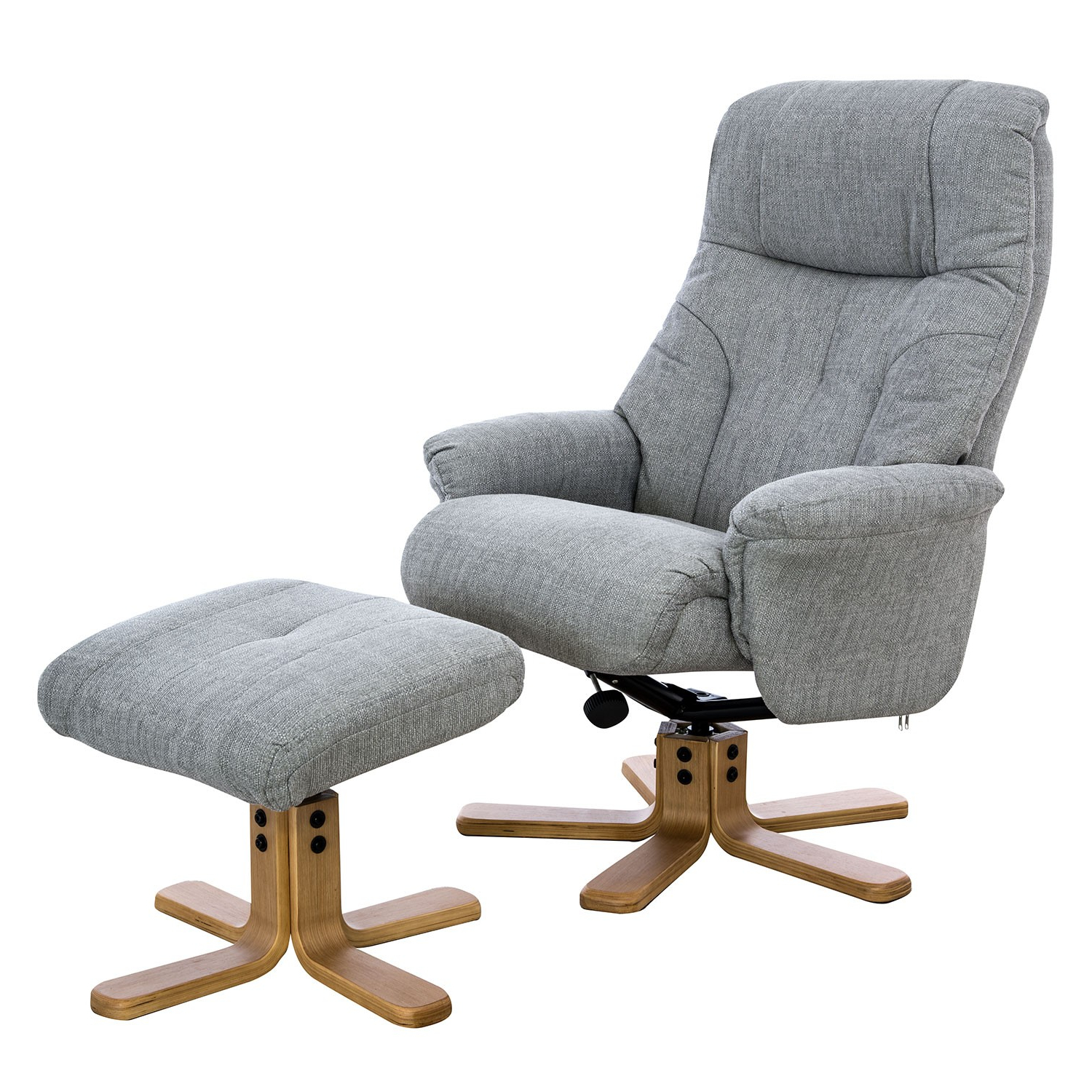 Well Known Casa Trento Swivel Recliner And Footstool (View 11 of 20)