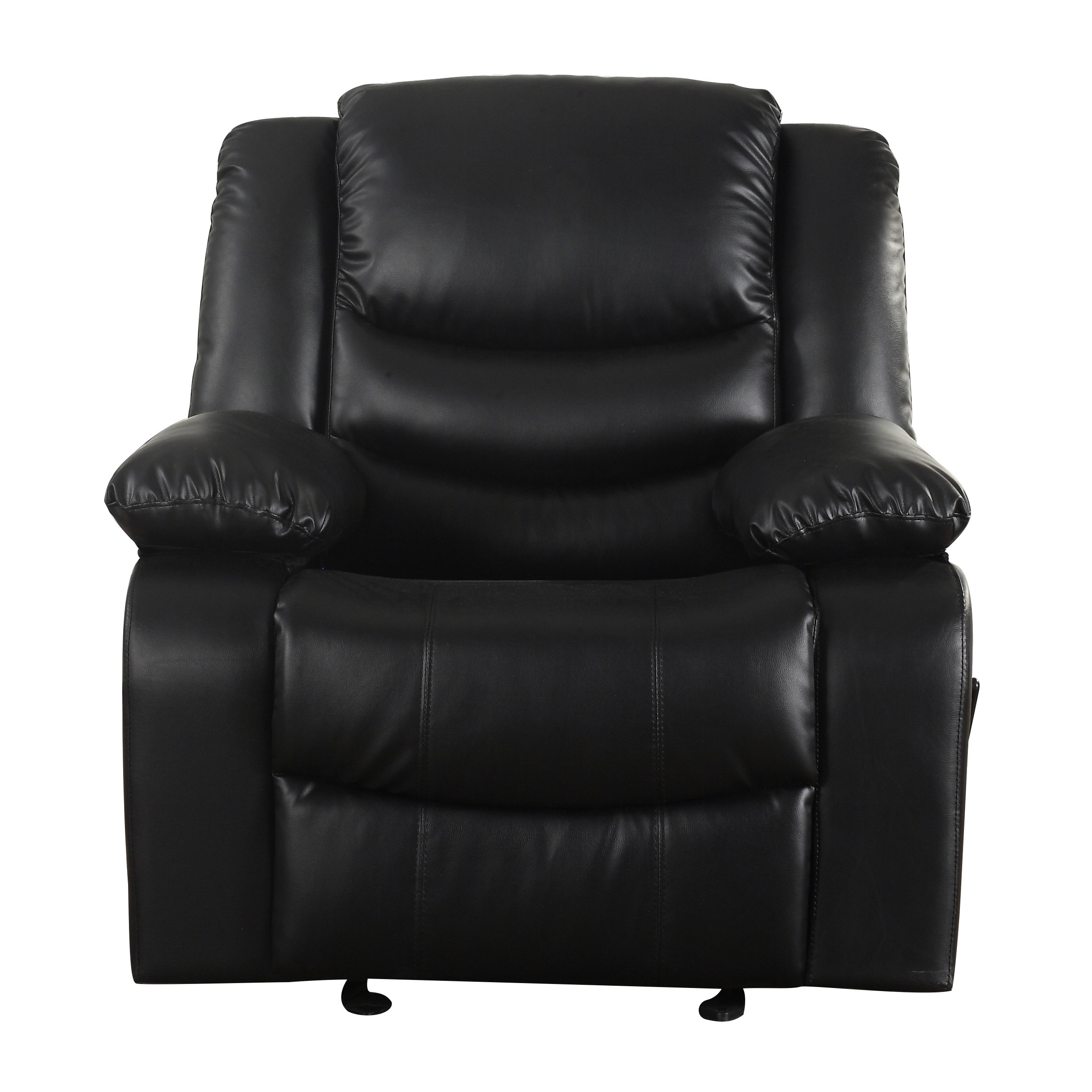Well Known Dale Iii Polyurethane Swivel Glider Recliners For Madison Home Usa Classic Overstuffed Manual Rocker Recliner (Gallery 16 of 20)