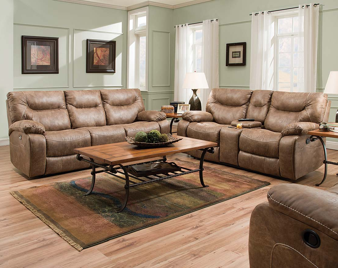 Well Known Furniture: Surprising Simmons Recliners For Contemporary Living Room Pertaining To Rogan Leather Cafe Latte Swivel Glider Recliners (View 18 of 20)