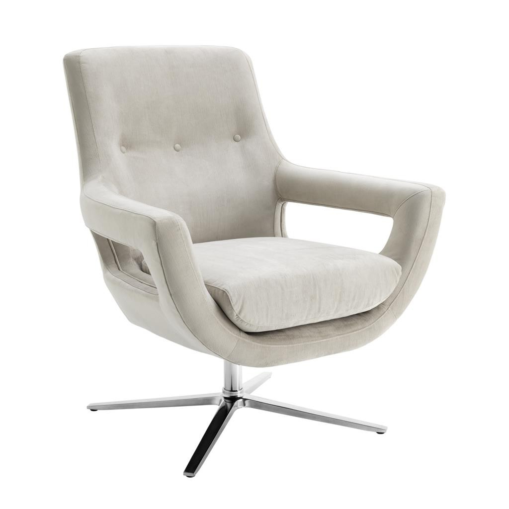 Well Known Grey Swivel Chairs With Regard To Flavio Pebble Grey Swivel Chair (Gallery 16 of 20)