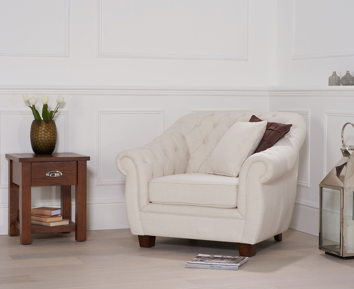 Well Known Liv Ivory Armchair – Style Our Home With Liv Arm Sofa Chairs (View 3 of 20)