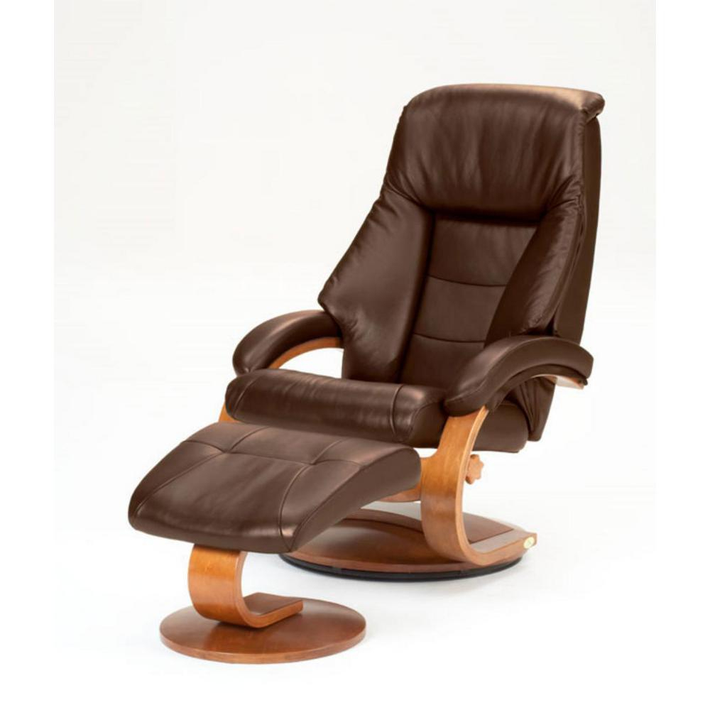 Well Known Mac Motion Oslo Collection Espresso Top Grain Leather Swivel In Espresso Leather Swivel Chairs (Gallery 17 of 20)