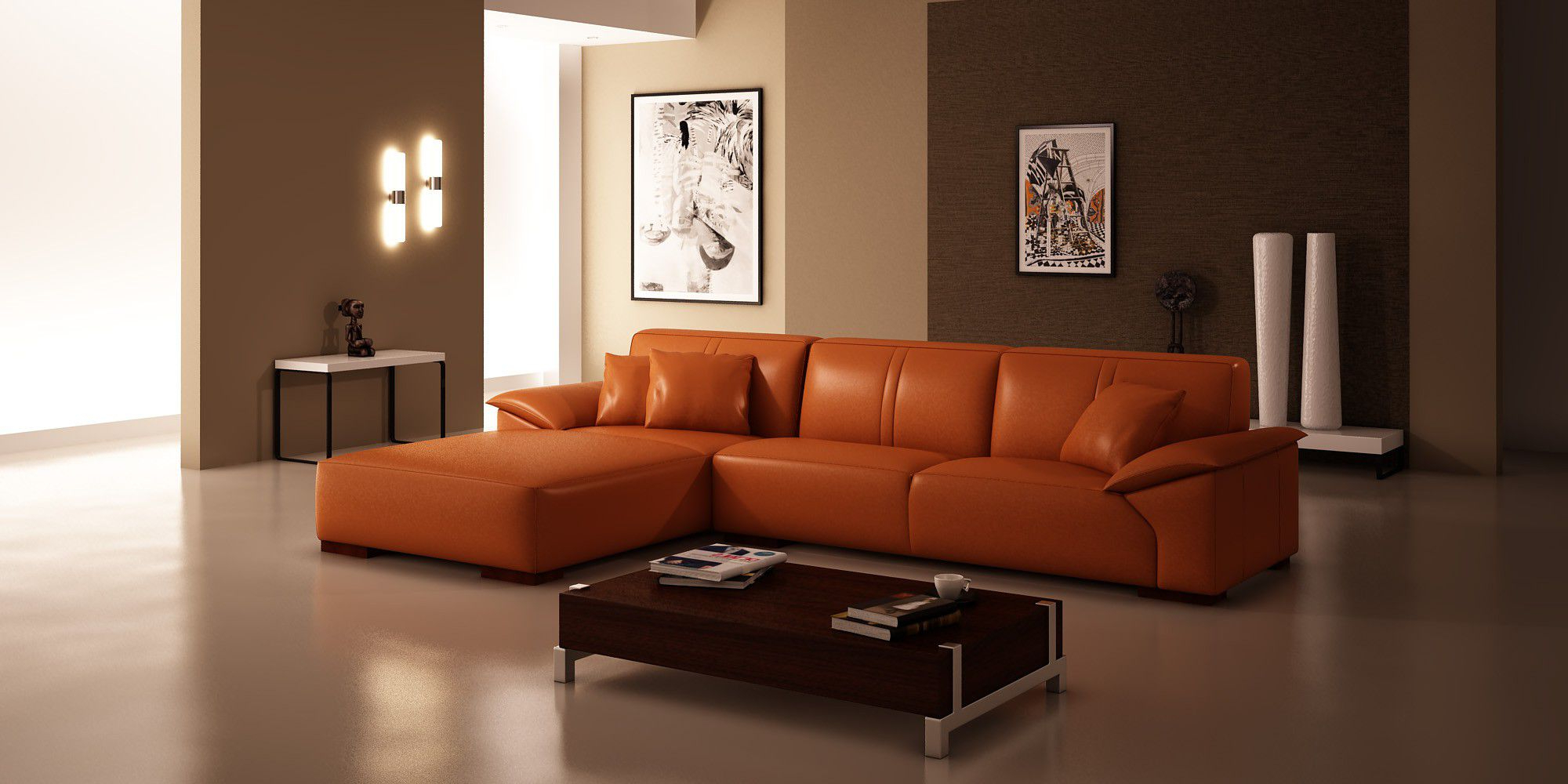 Well Known Orange Sofa Chairs Throughout Furniture: Stunning Sears Sofas For Family Room Ideas (View 19 of 20)