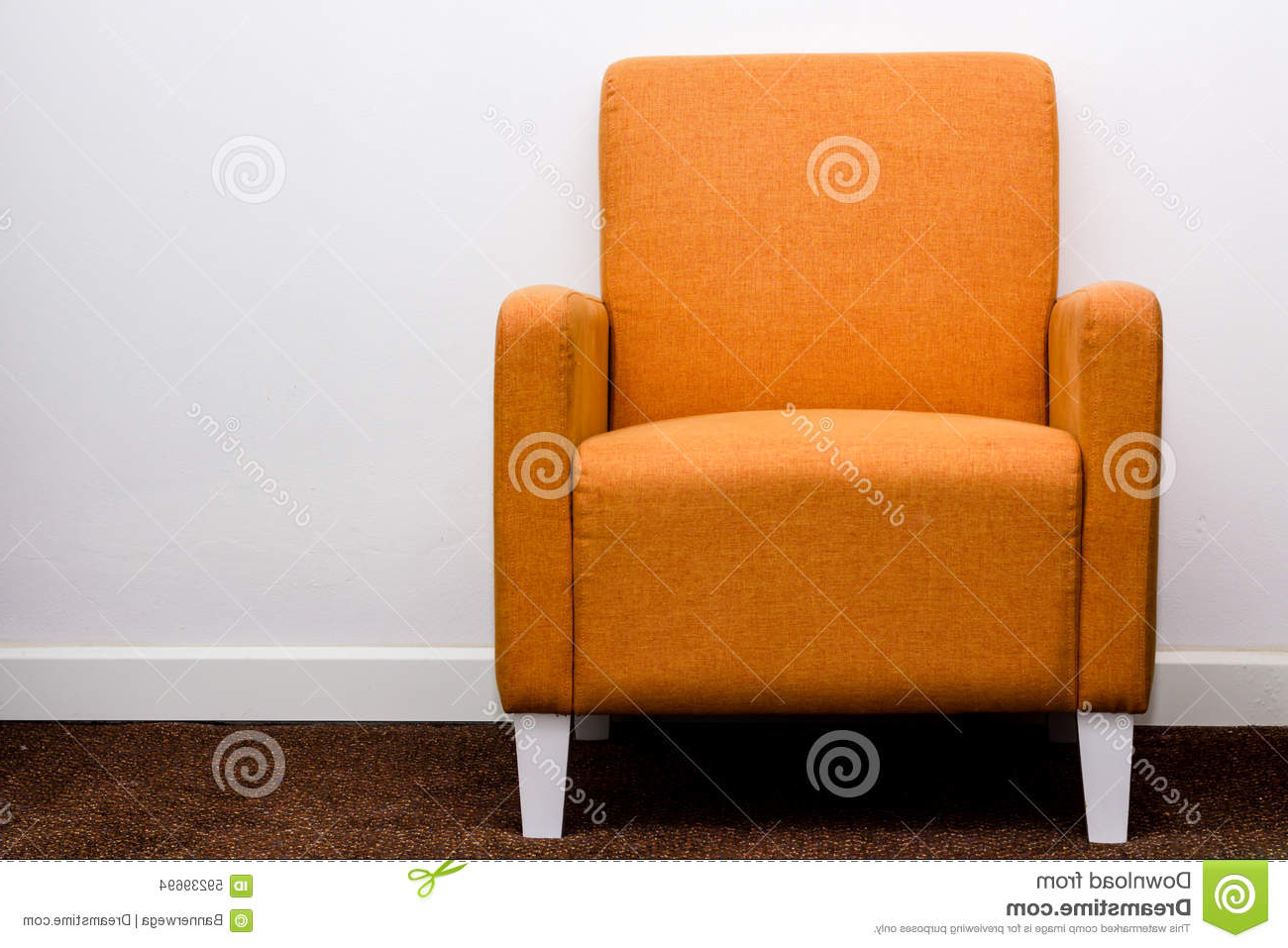 Well Known Orange Sofa Stock Photo (View 7 of 20)