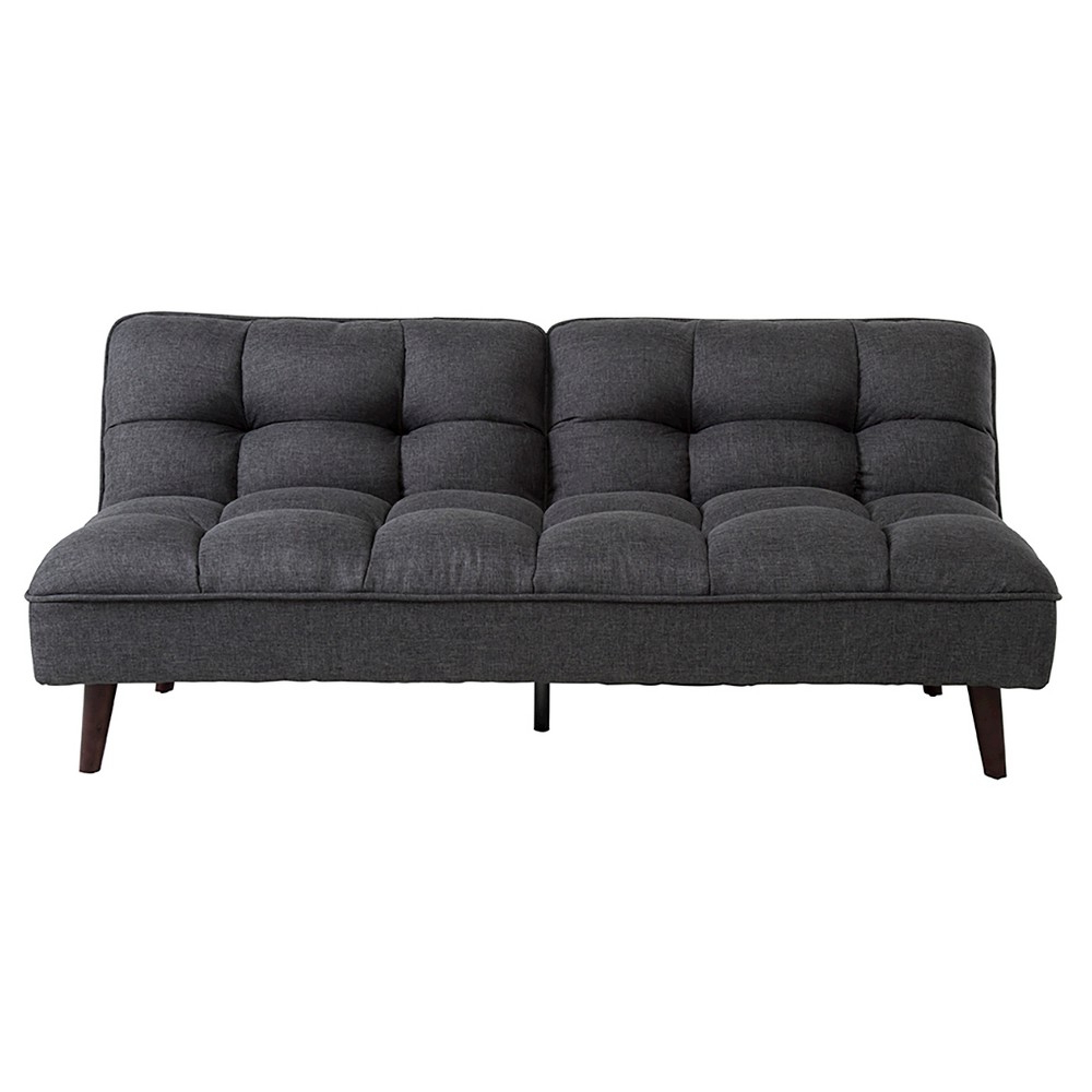 Well Known Patterson Premium Linen Futon – Charcoal Grey – Dhp, Black (View 19 of 20)