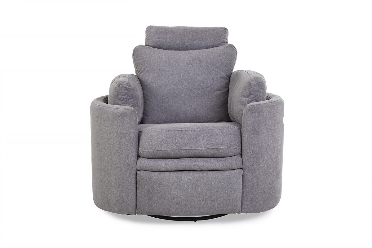 Well Known Pluto Grey Swivel Rocker Recliner Armchair – Furniture Stores Ireland With Regard To Grey Swivel Chairs (Gallery 12 of 20)