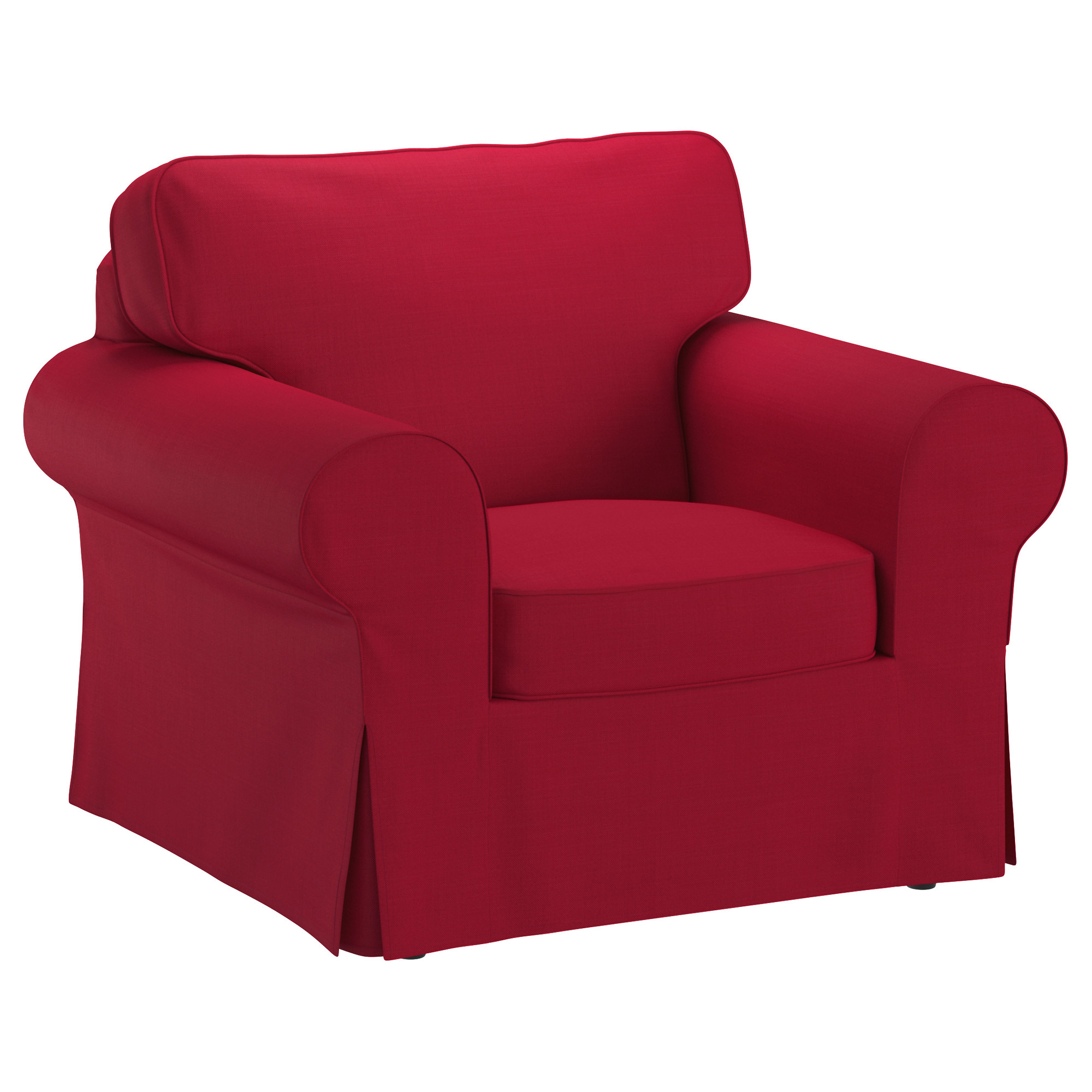 Well Known Red Sofas And Chairs Within Ikea Ektorp Armchair The Cover Is Easy To Keep Clean As It Is (View 5 of 20)