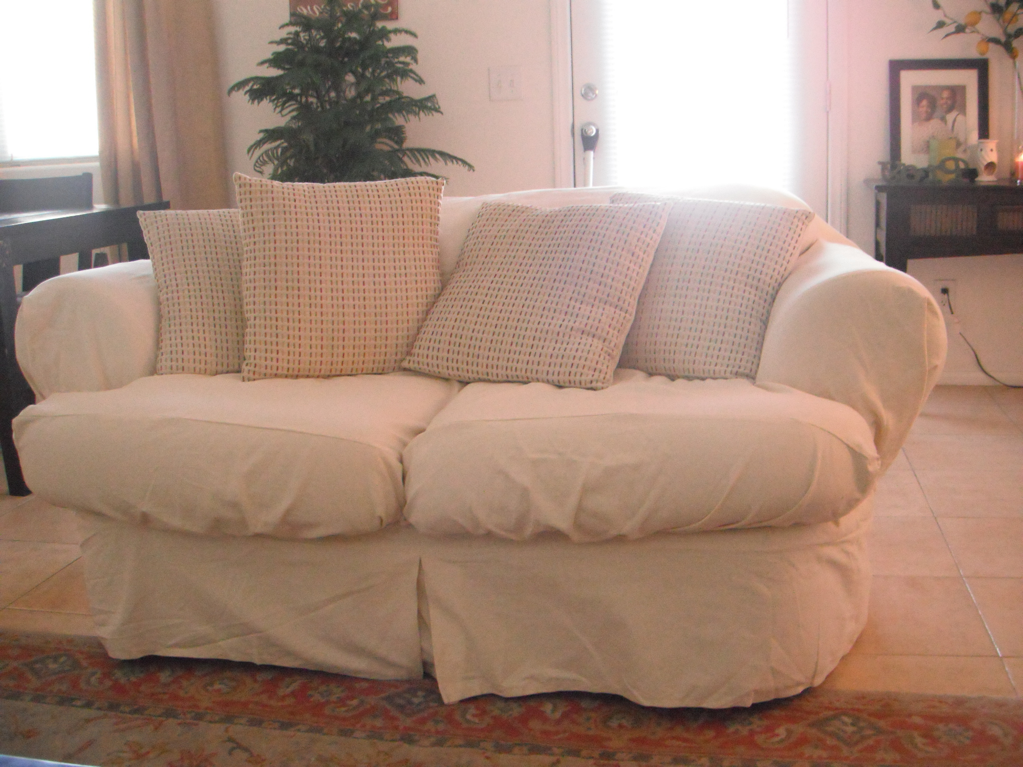 Well Known Slipcovers For Leather Couches Patio Chair How To Cover A Sofa With Within Sofa And Chair Slipcovers (Gallery 13 of 20)