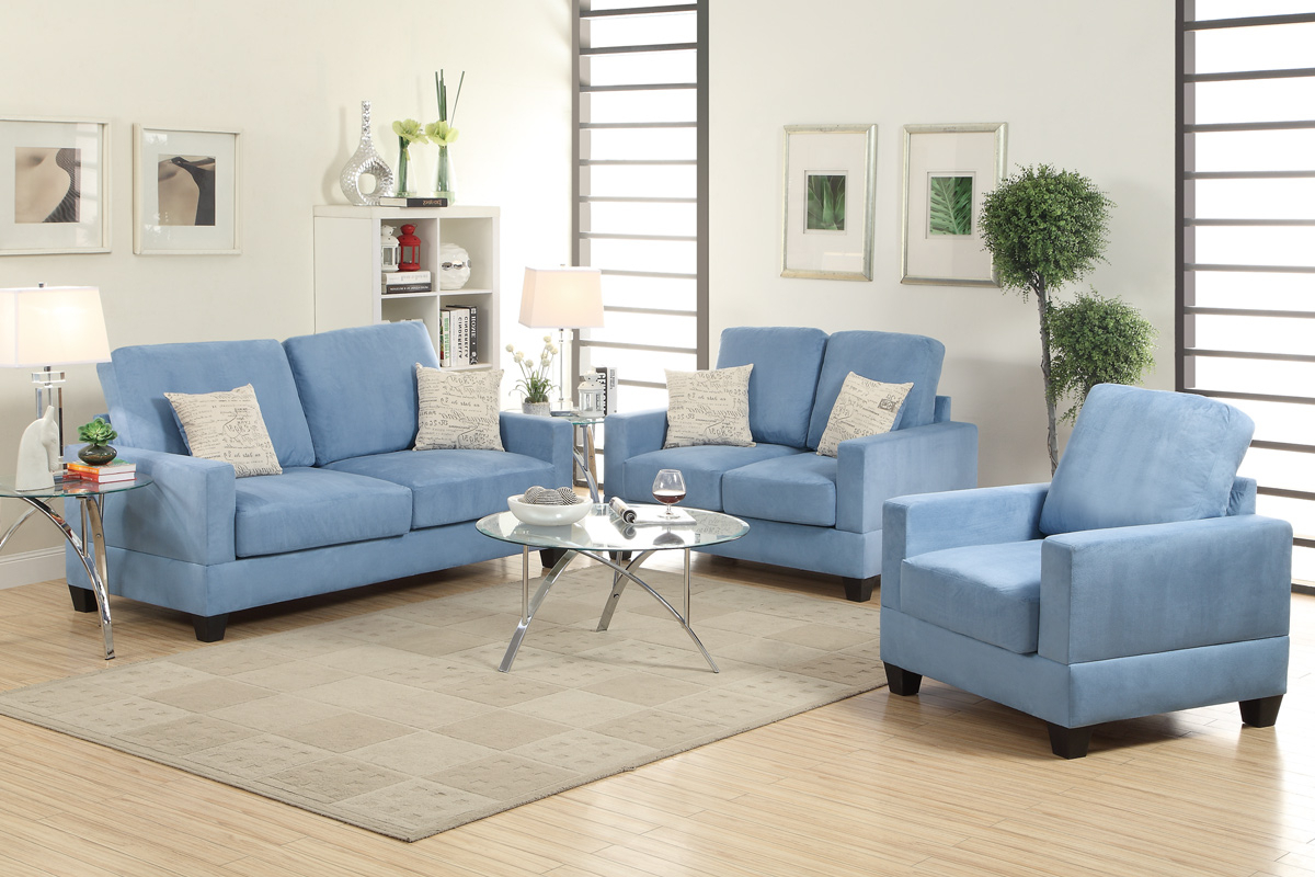 Well Known Sofa And Chair Set With Regard To Blue Wood Sofa Loveseat And Chair Set – Steal A Sofa Furniture (View 19 of 20)