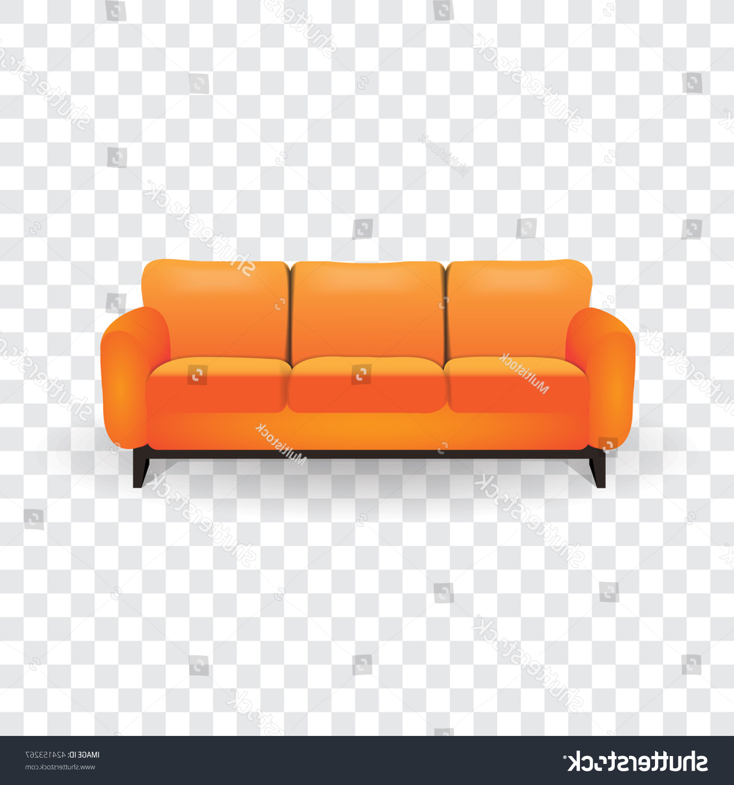 Well Known Sofa Furniture Orange Color Stock Vector (royalty Free) 424153267 For Orange Sofa Chairs (View 16 of 20)