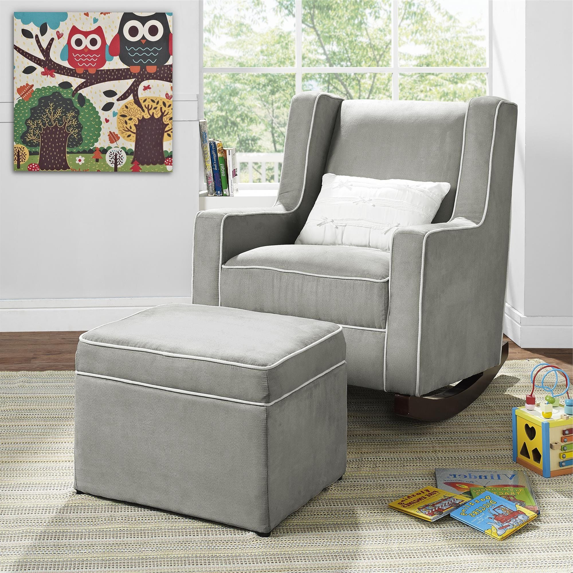 Well Liked Baby Relax Abby Rocker Gray Color: One Color >>> Check Out This Throughout Abbey Swivel Glider Recliners (Gallery 11 of 20)