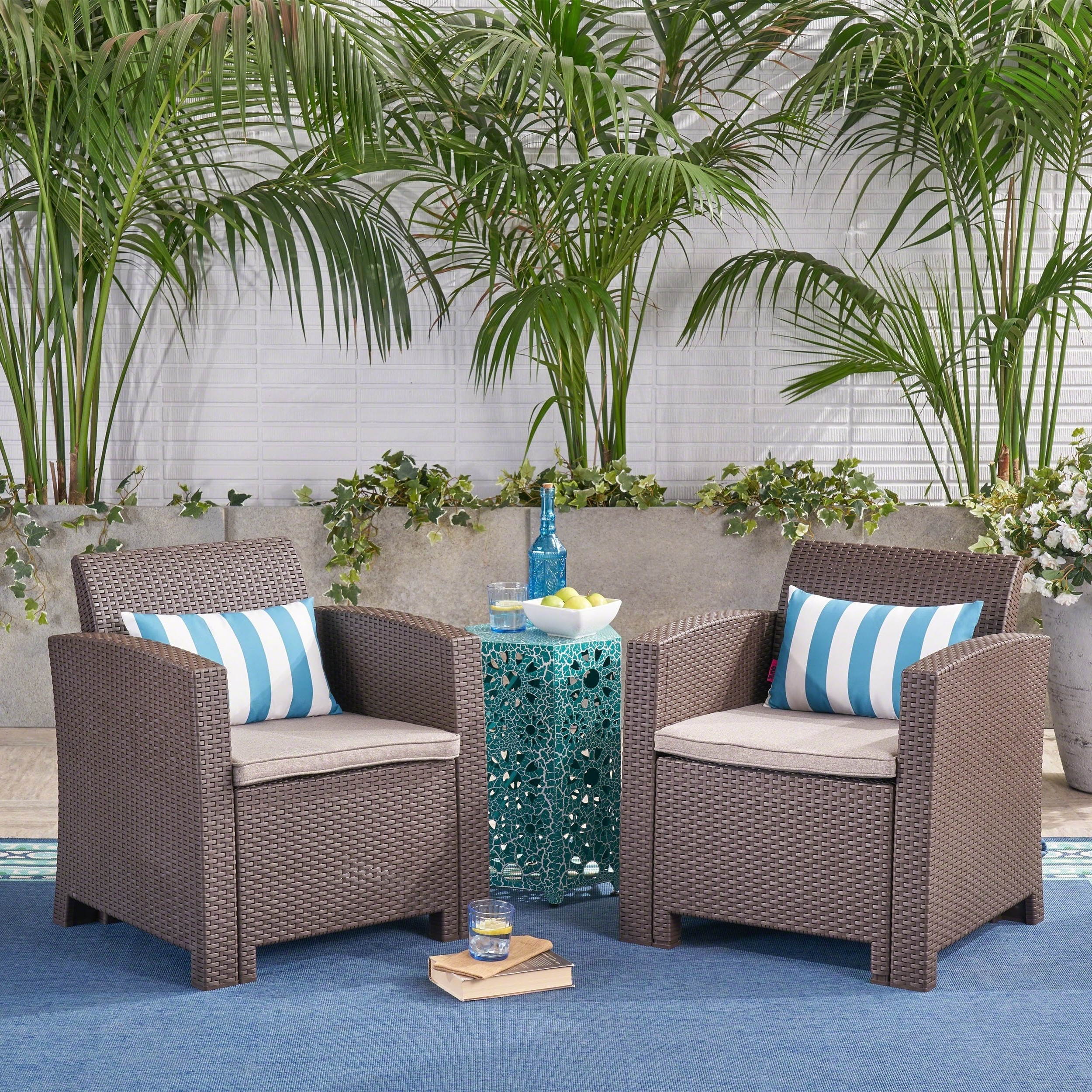 Well Liked Buy 2 Outdoor Sofas, Chairs & Sectionals Online At Overstock With Regard To Alder Grande Ii Swivel Chairs (View 16 of 20)